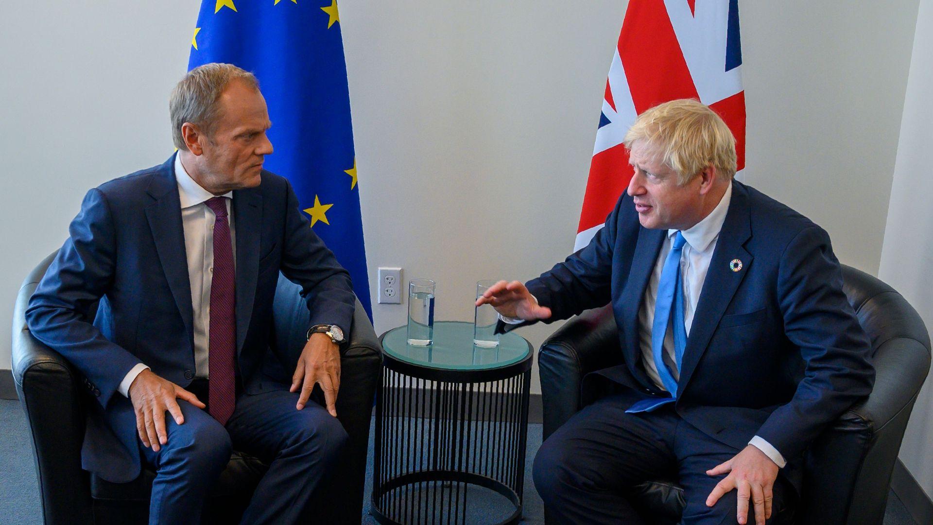 Donald Tusk and Boris Johnson.