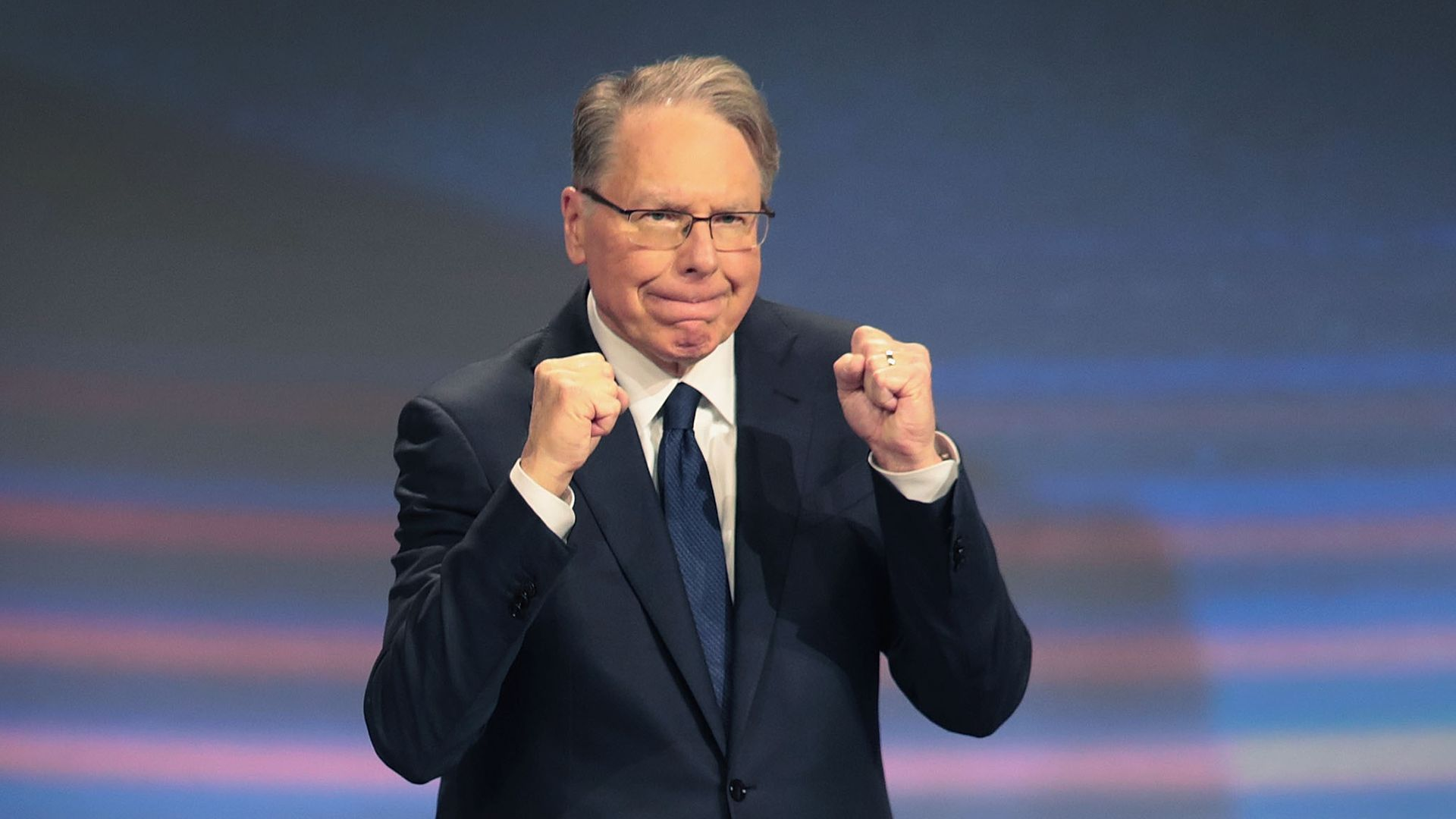 The National Rifle Association re-elected longtime CEO Wayne LaPierre to his leadership position on Monday.