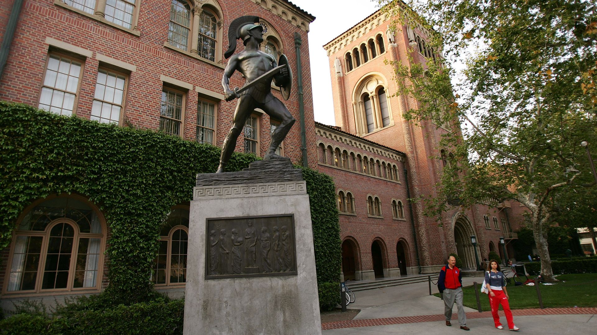 The University of Southern California campus in Los Angeles, California.