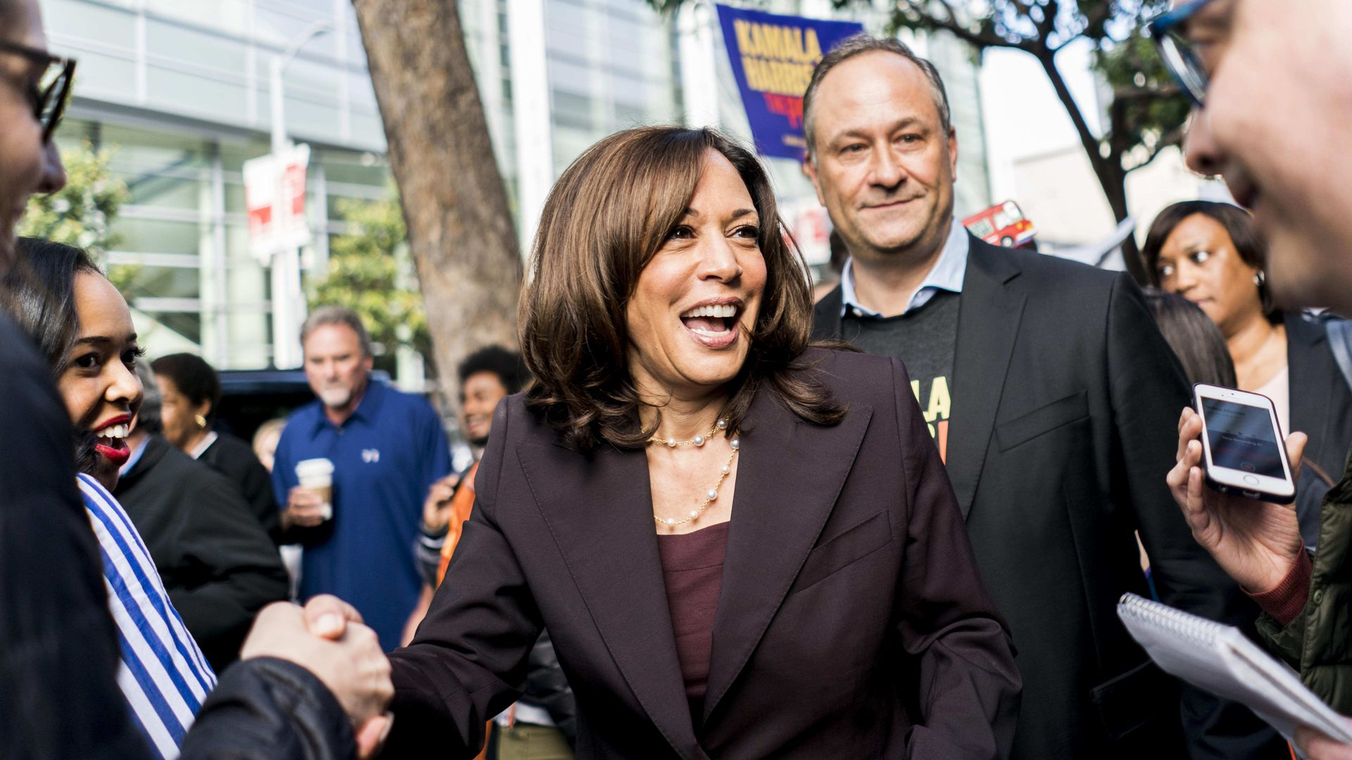 Sen. Kamala Harris campaigning for the 2020 presidency