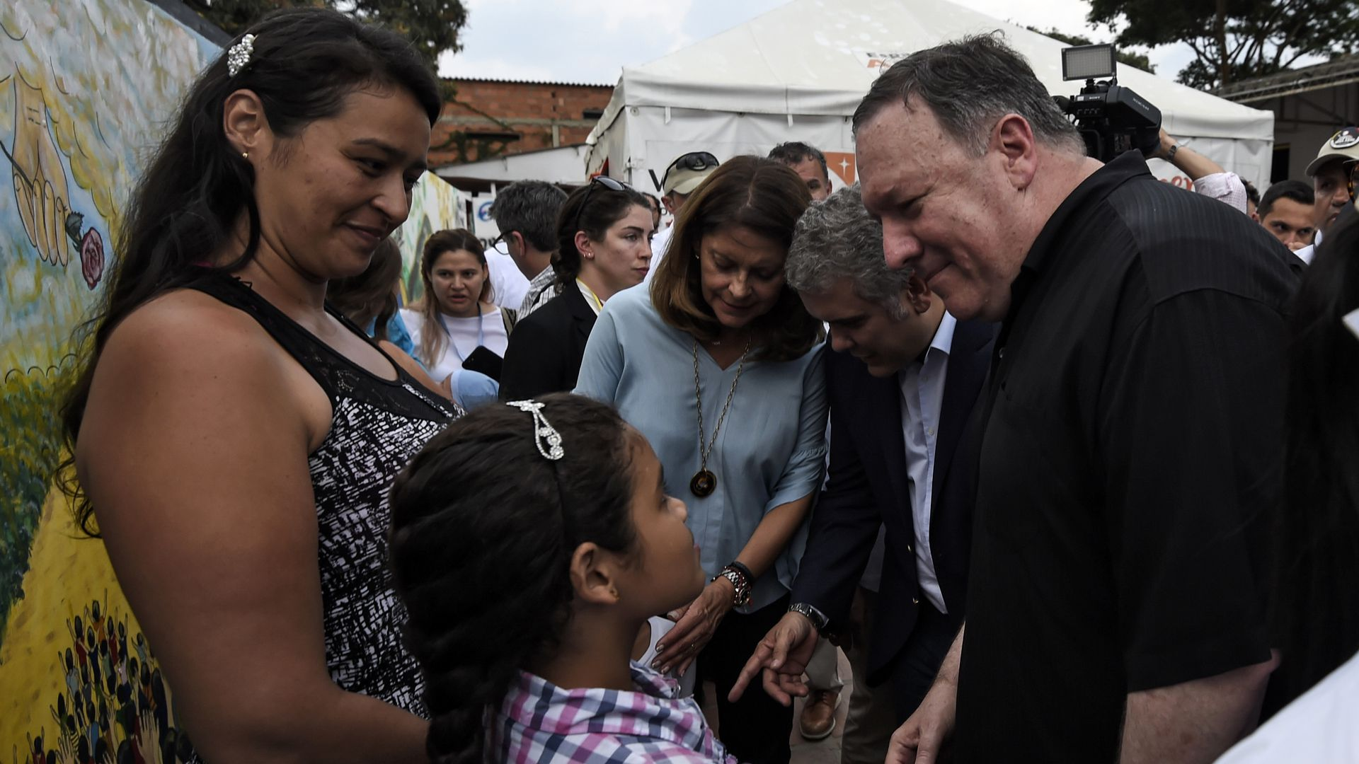 U.S. Secretary of State visits Venezuelan migrants in Colombia.