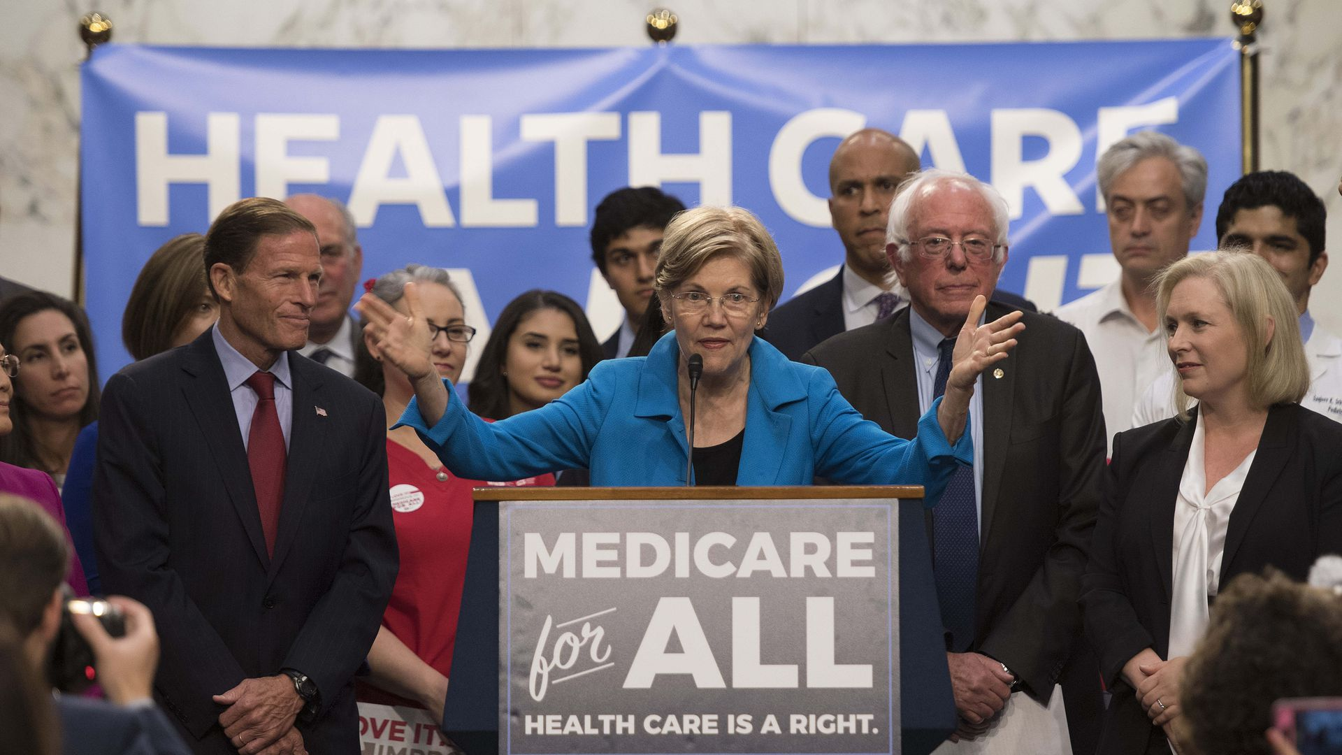 Democrats unveiling a Medicare for All platform.