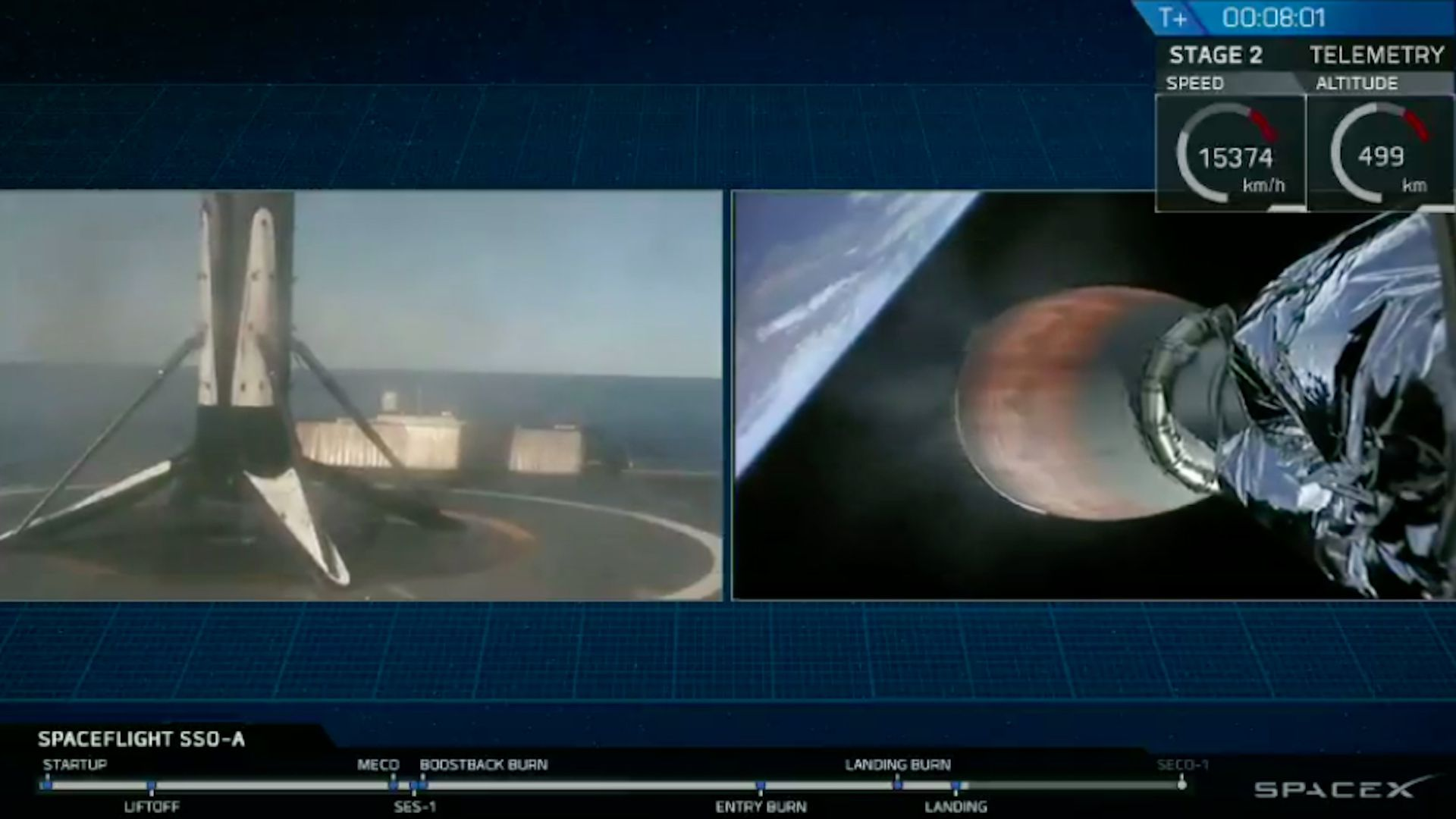 SpaceX rocket carries a record 64 satellites to low Earth orbit.