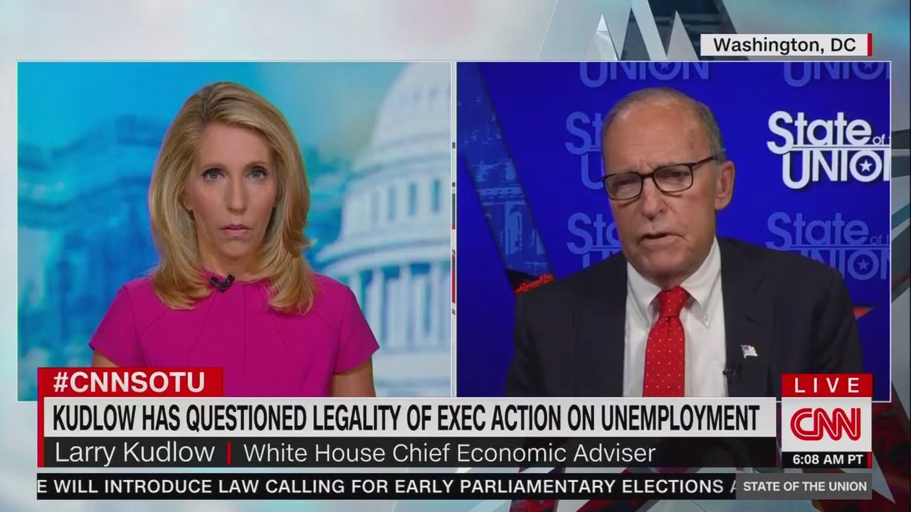 Kudlow says he regrets claiming Trump couldn't use executive order for unemployment