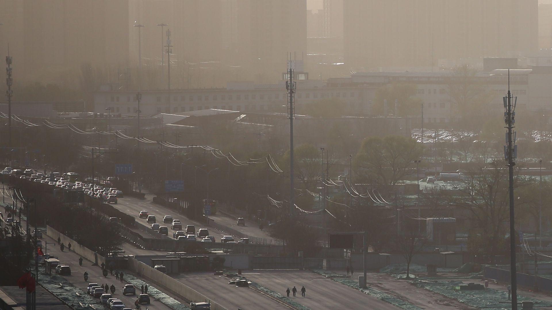 Smog shrouds Beijing, China