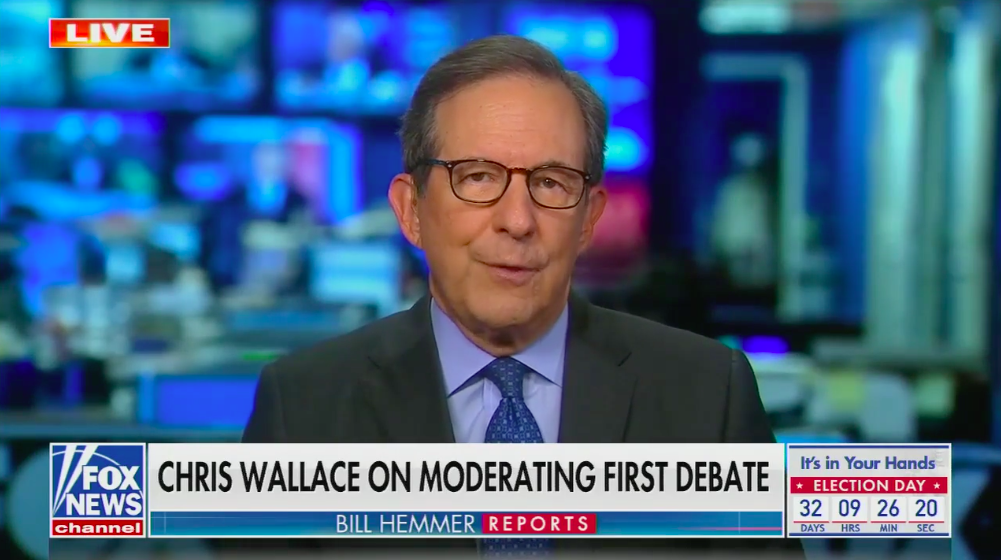 """Chris Wallace: Trump """"bears the primary responsibility"""" for debate"""