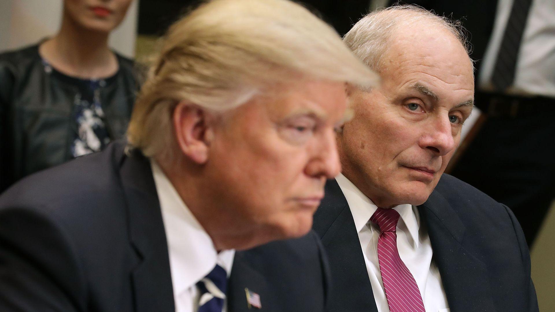 John Kelly aux côtés du président Trump à la Maison Blanche en janvier 2017.