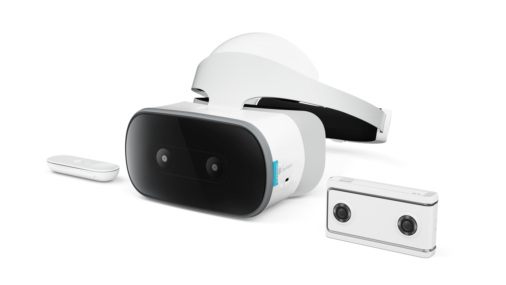 Lenovo's new standalone VR headset and 180-degree camera, developed with Google
