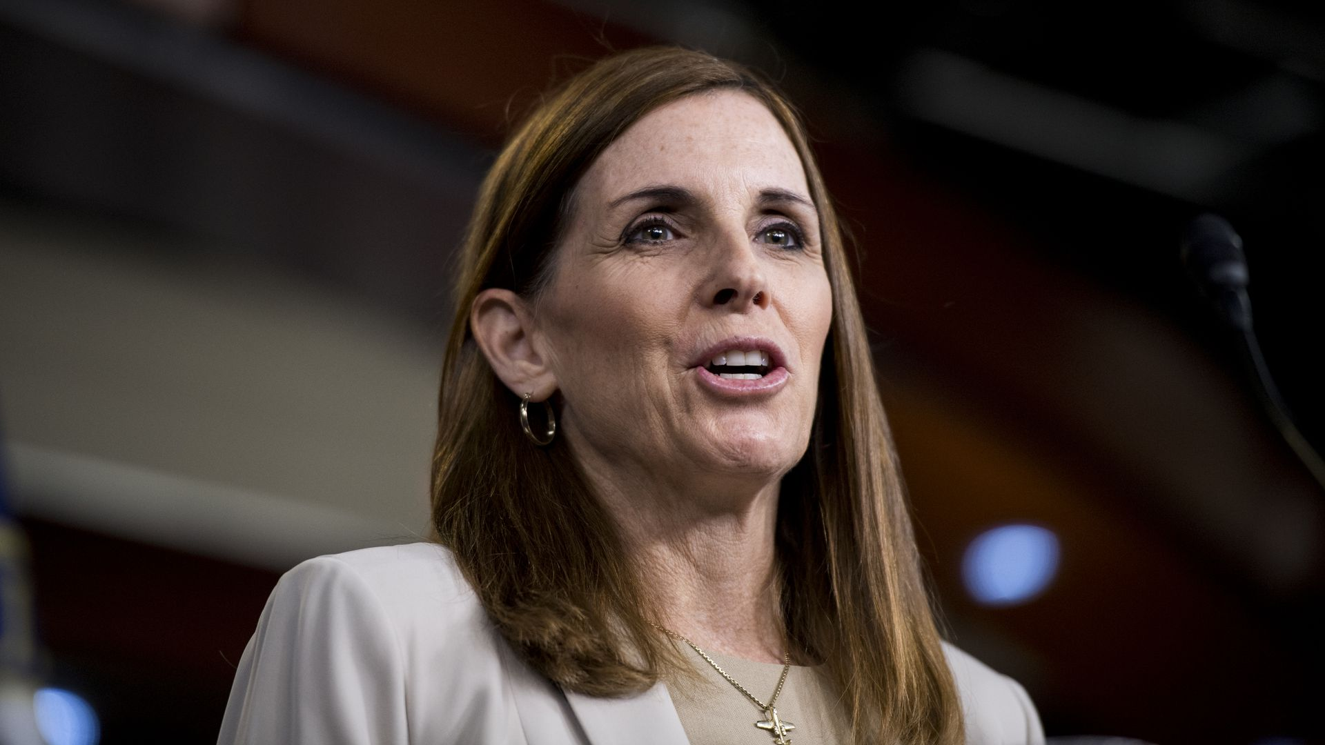 Rep. Martha McSally (R-Ariz.), running for the Senate seat being vacated by retiring Republican Sen. Jeff Flake.