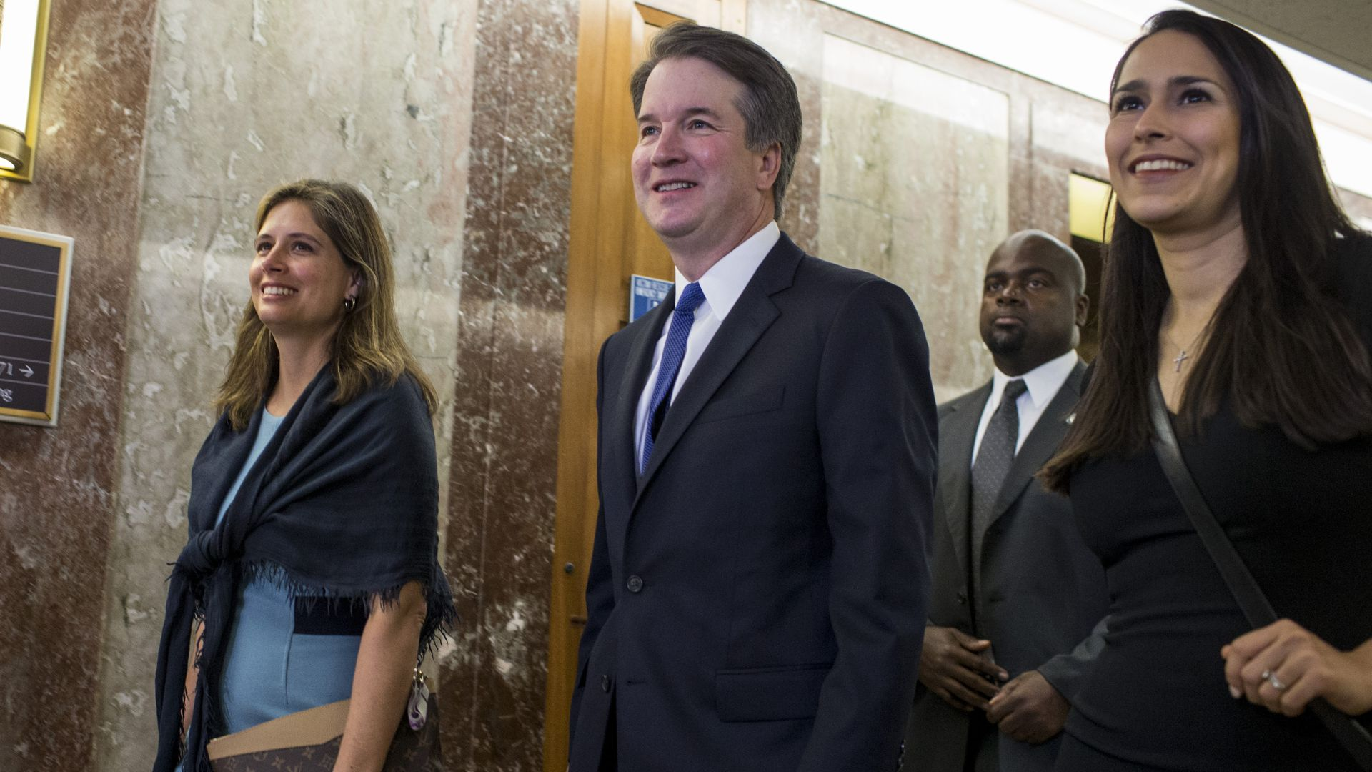 Supreme Court Nominee Brett Kavanaugh on Capitol Hill. Photo: Zach Gibson/Getty Images