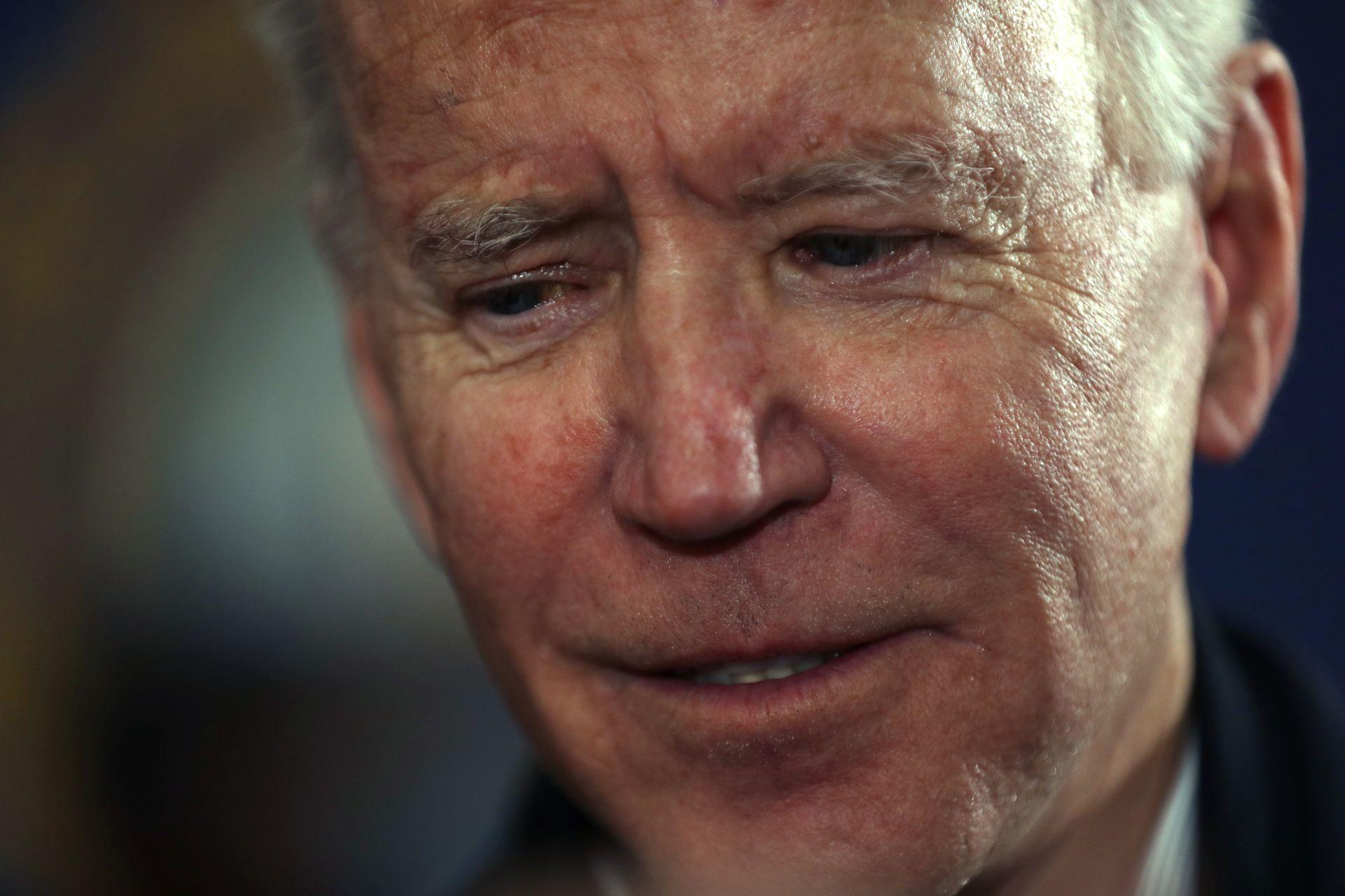 "Joe Biden says Iowa caucus results were a ""gut punch"""