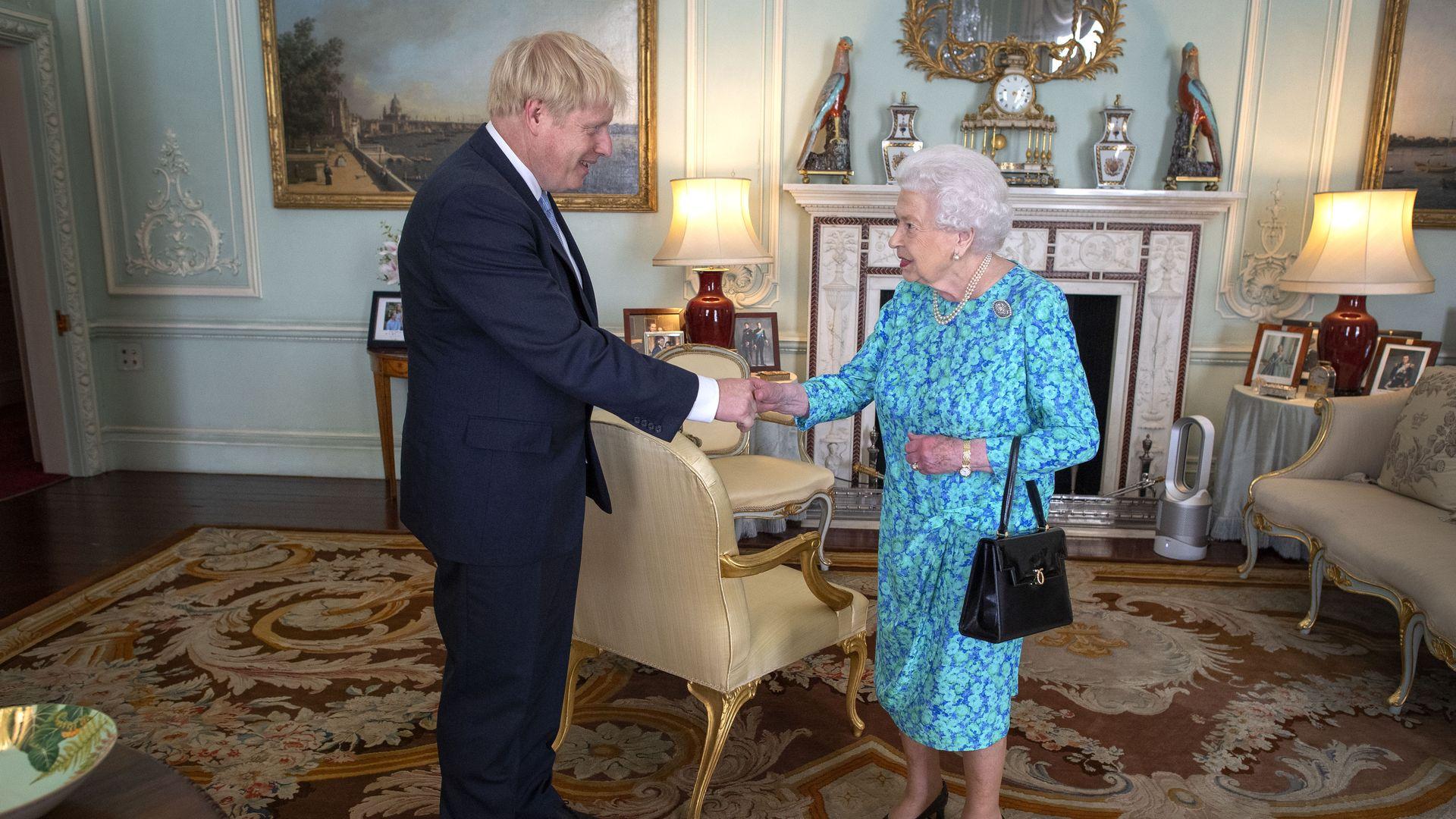 Boris Johnson and Queen Elizabeth II