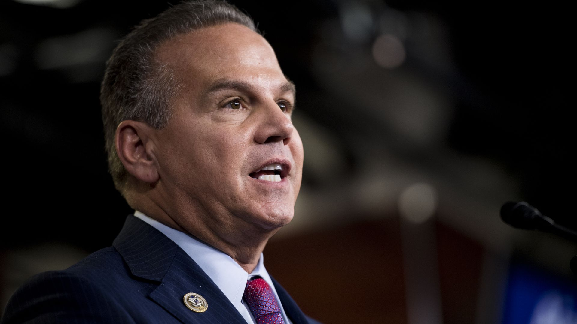 Rep. David Cicilline, D-R.I., speaks during a House Democrat news conference