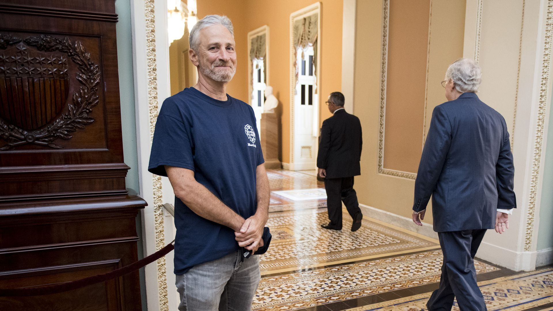Jon Stewart and Mitch McConnell