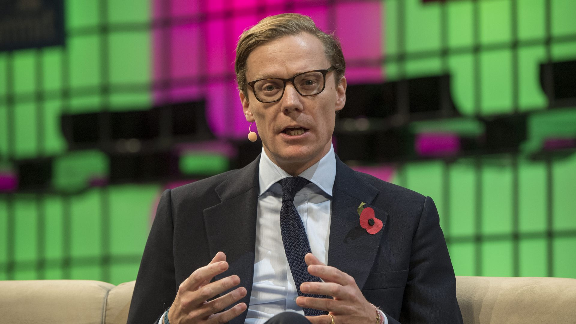Alexander Nix, CEO, Cambridge Analytica, speaks at the 2017 Web Summit in Lisbon, Portugal