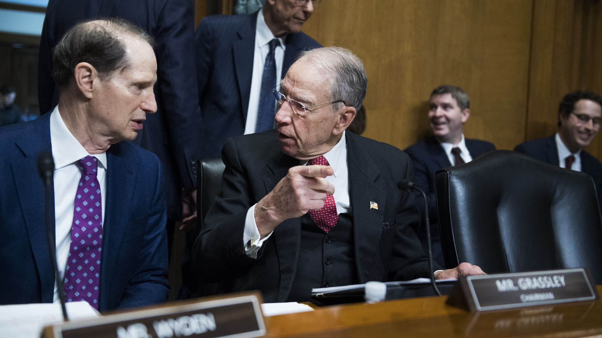Sens. Ron Wyden and Chuck Grassley