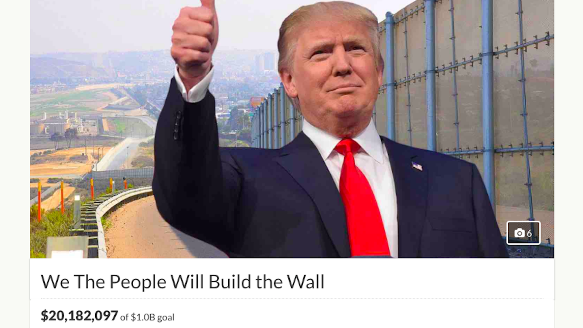 "GoFundMe refunding entirety of $20 million ""Build the Wall"" campaign"