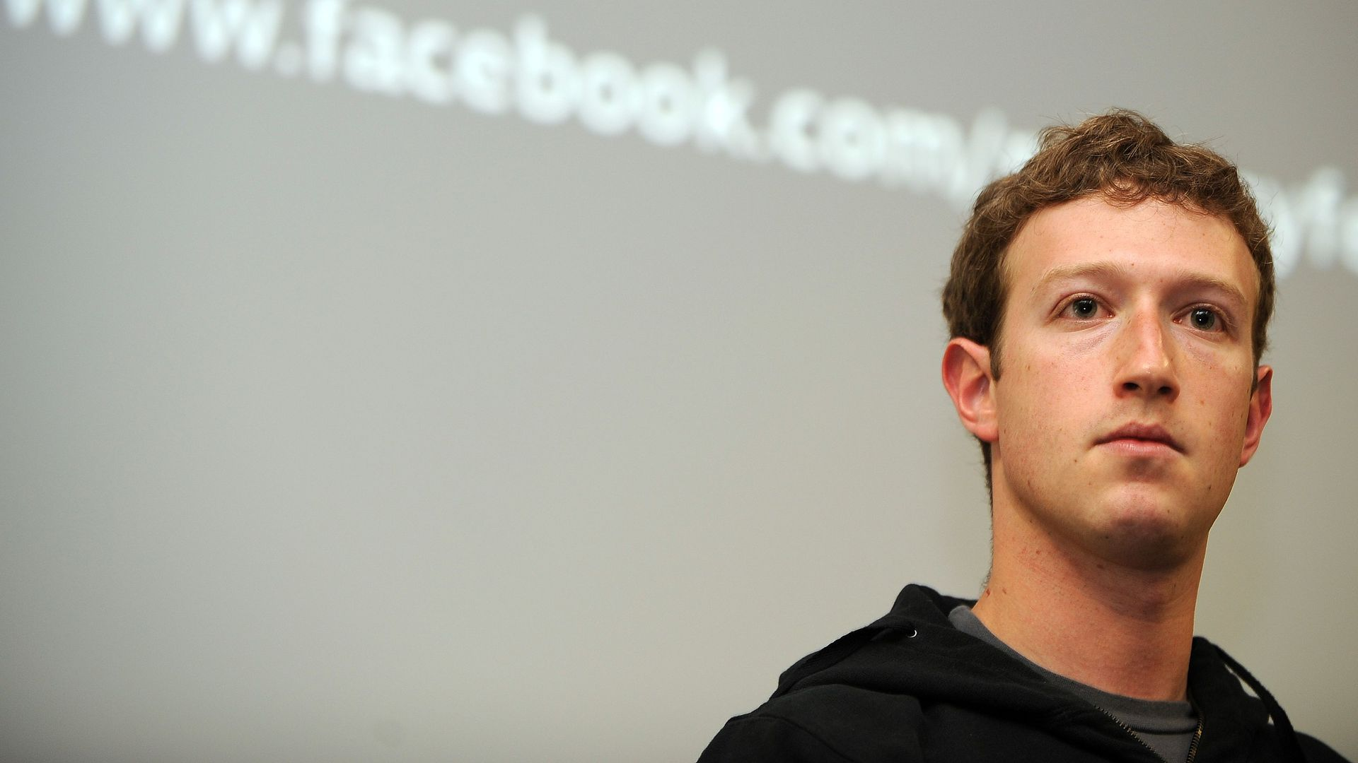 Mark Zuckerberg speaks during a press conference at the Facebook headquarters in Palo Alto, California