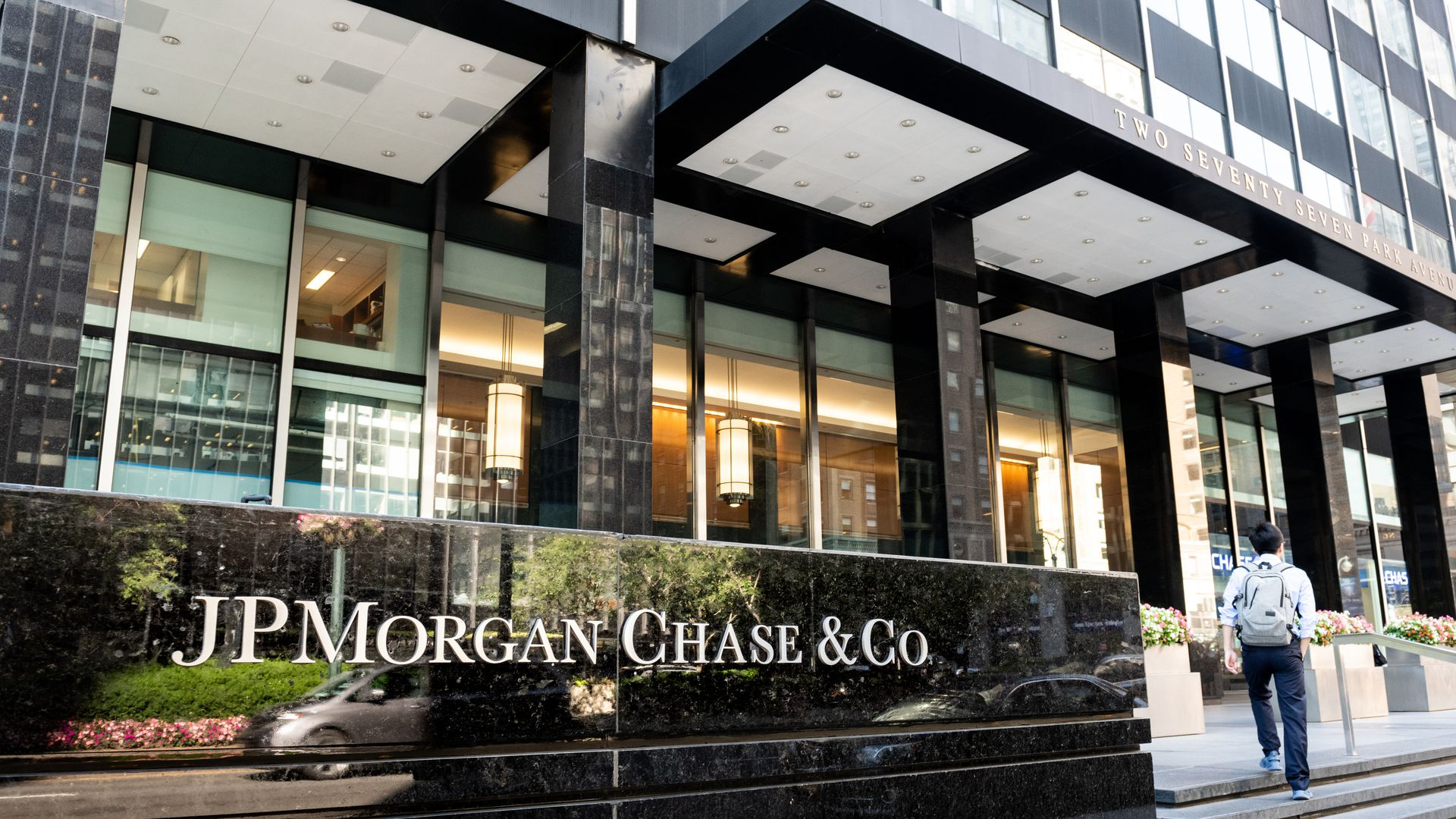 JPMorgan Chase building on Park Avenue in New York City.