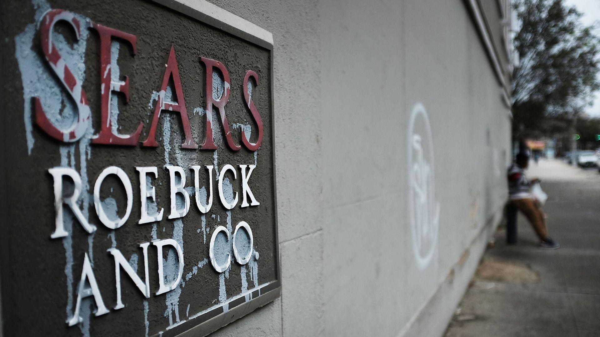 Run down Sears sign