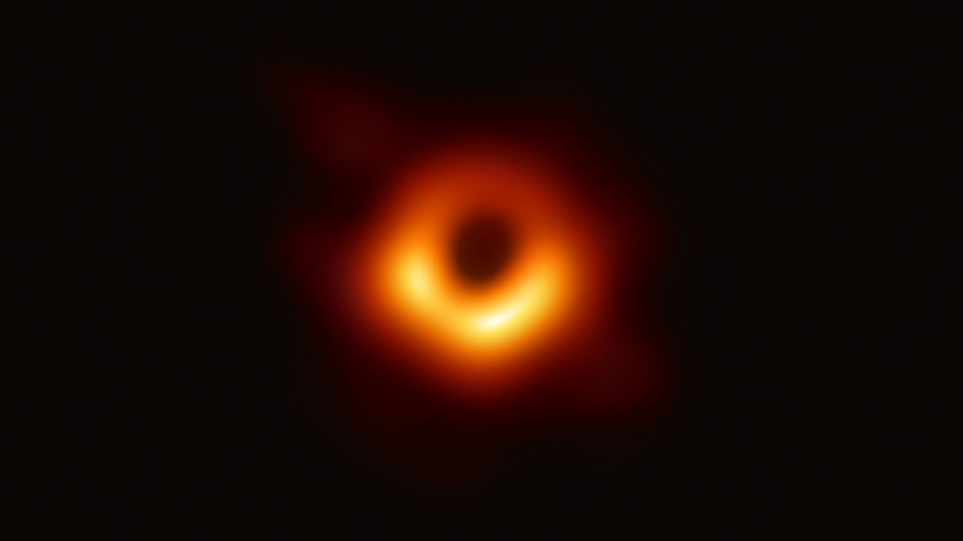 The first photo of a black hole ever taken. Photo: EHT collaboration