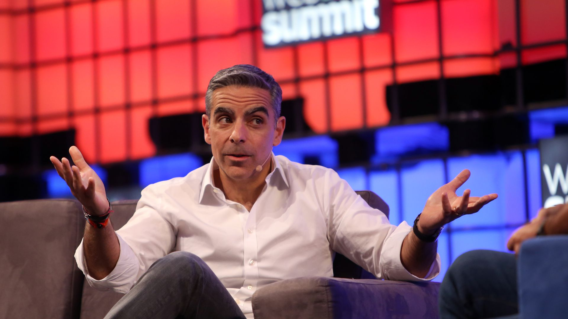 Facebook executive David Marcus speaks at a conference.