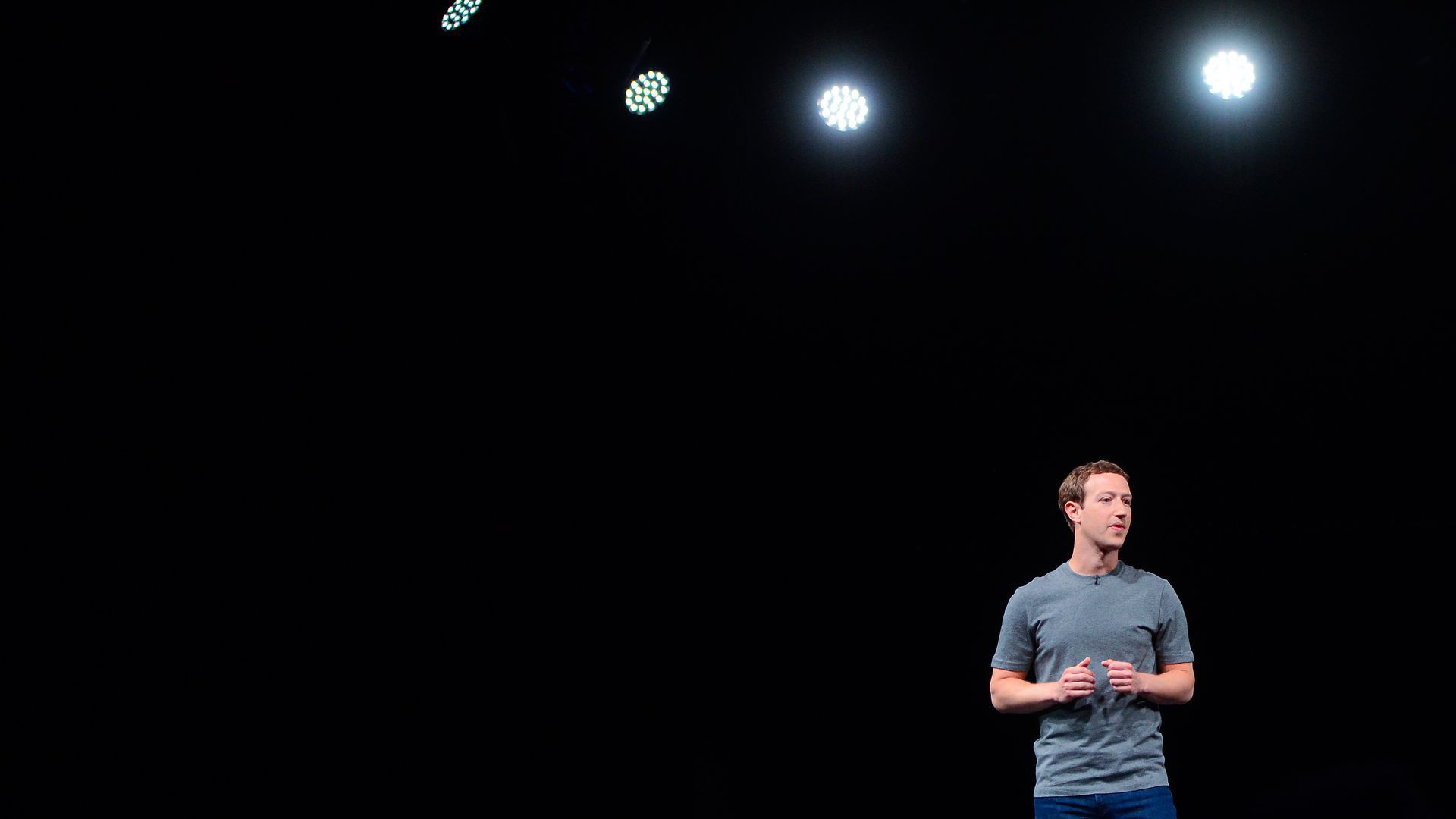 Mark Zuckerberg talking onstage