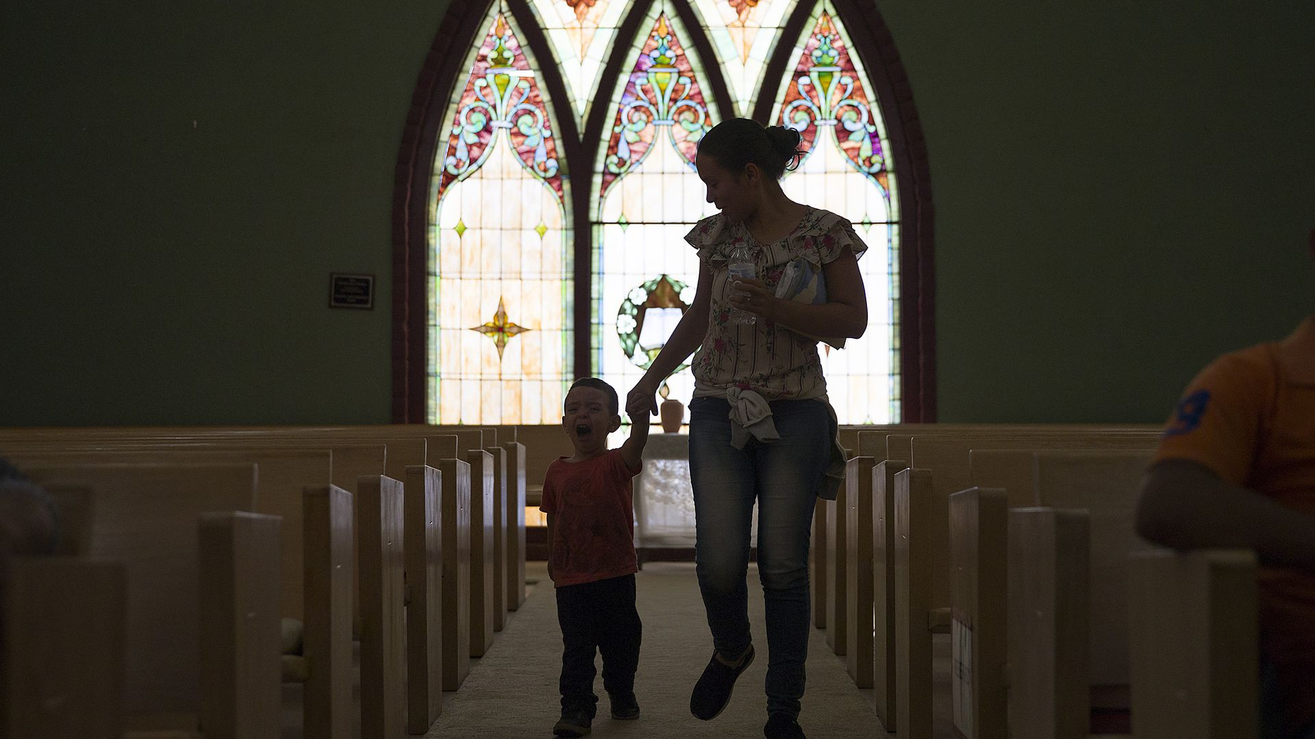 El Calvario Methodist Church which is housing migrants who are seeking asylum, after they were released by the U.S. Immigration and Customs Enforcement on June 3, 2019 in Las Cruces, New Mexico.