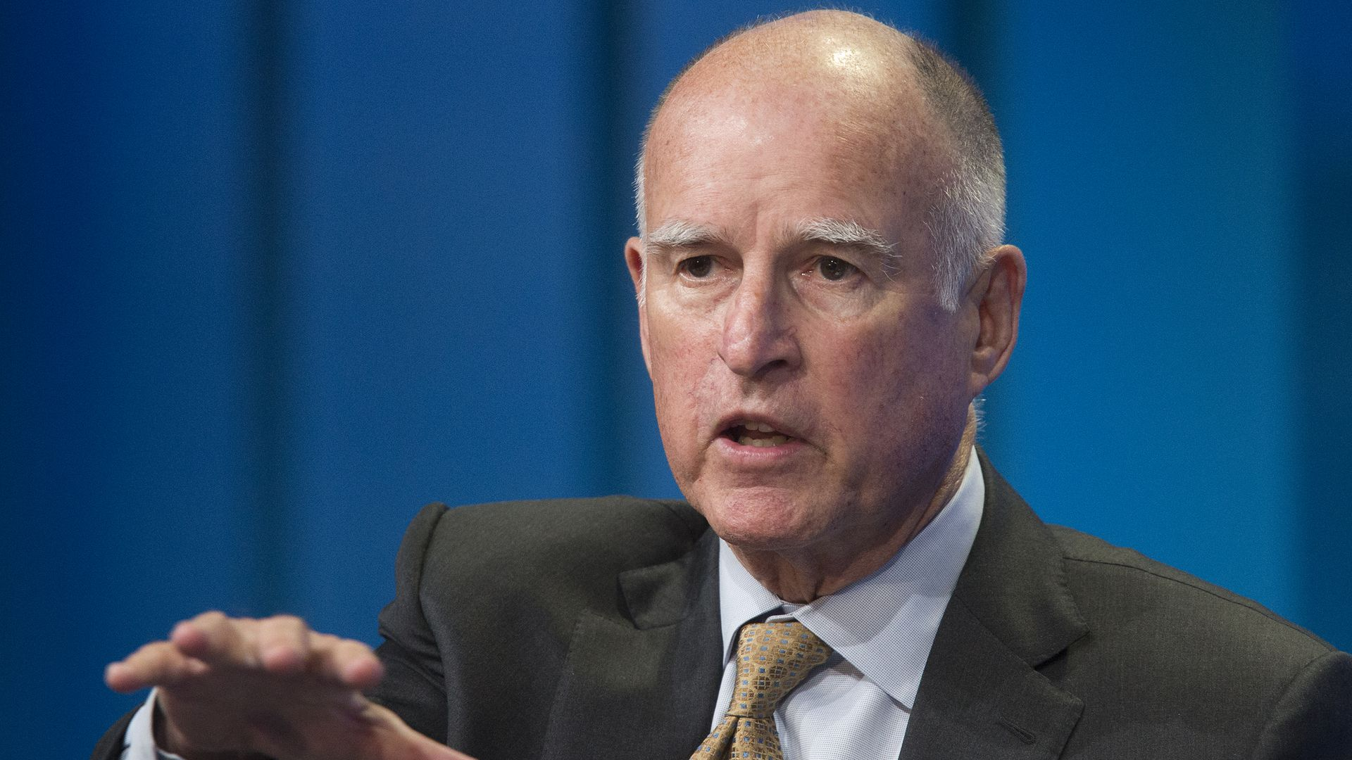 California governor in suit.