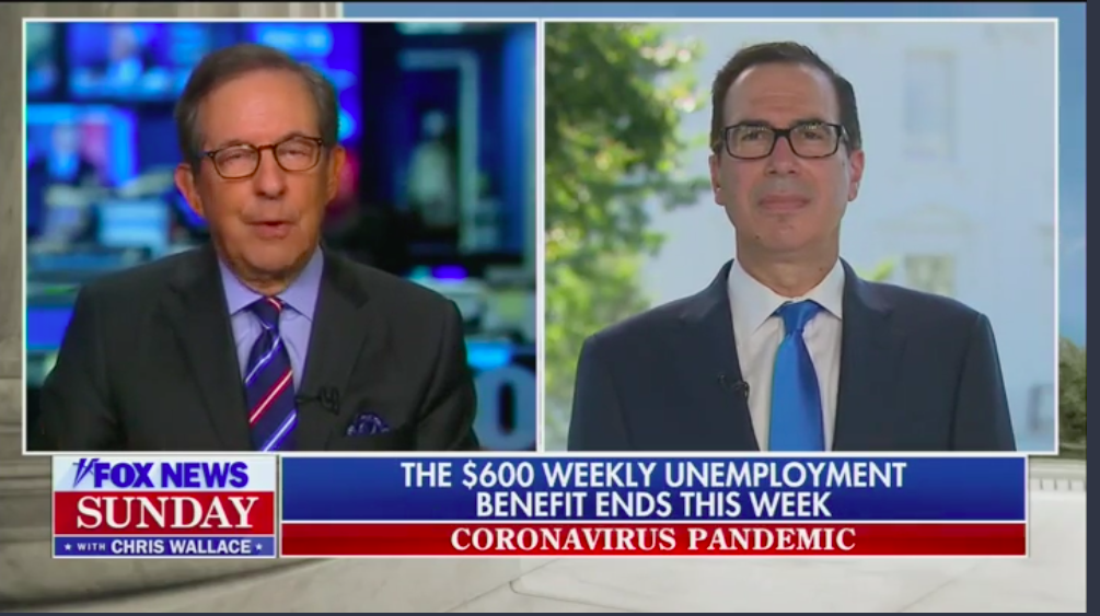 Mnuchin says White House will propose reducing unemployment benefits to 70% of wages thumbnail