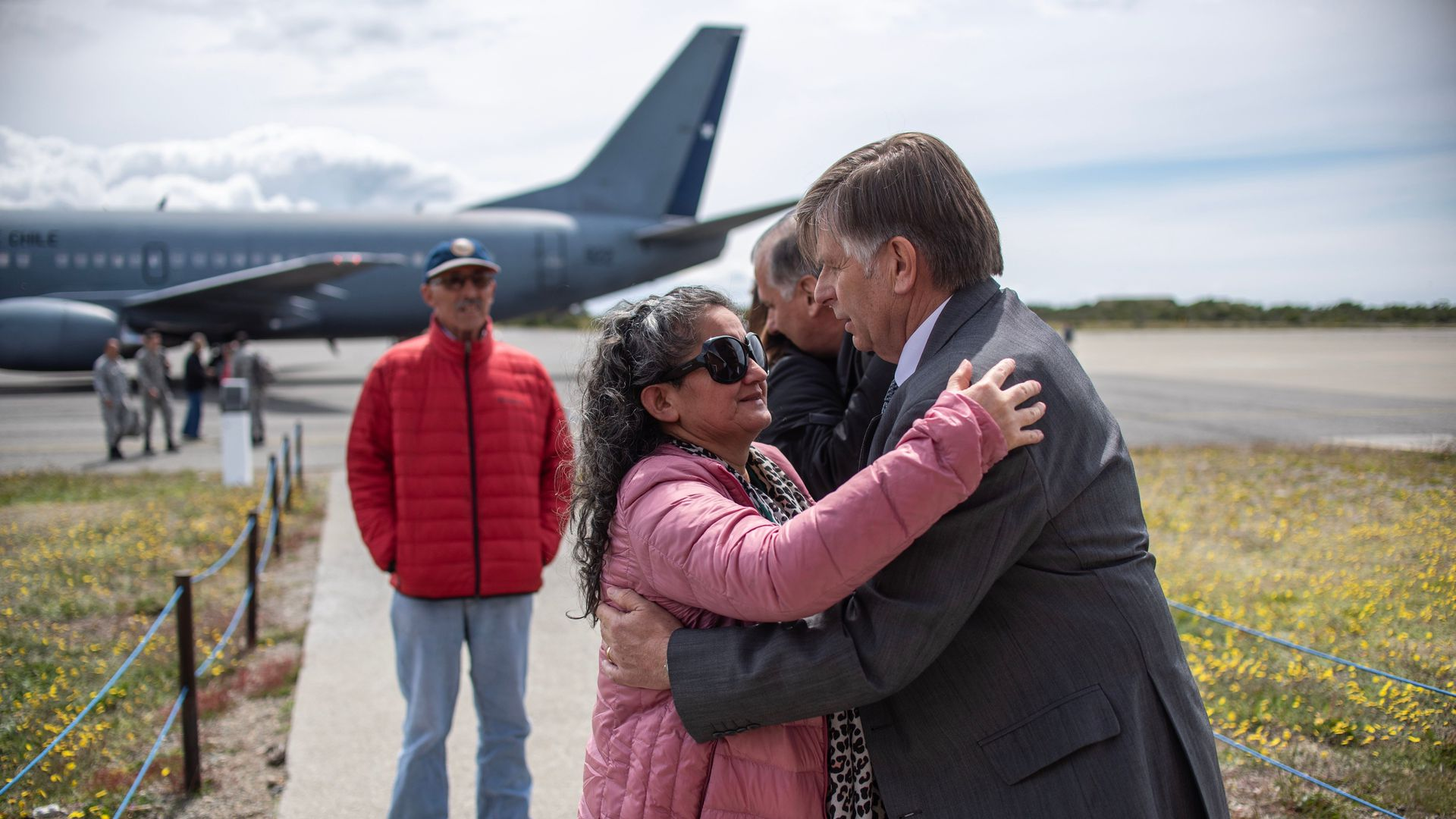 Relatives of people aboard the Chilean Air Force C-130 Hercules cargo plane that went missing