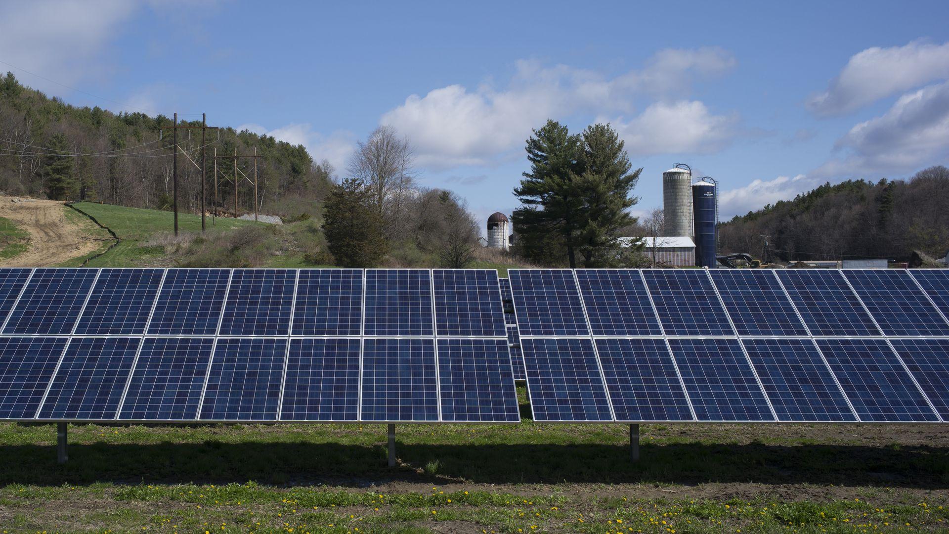 Solar panels near a dairy farm in Vermont.
