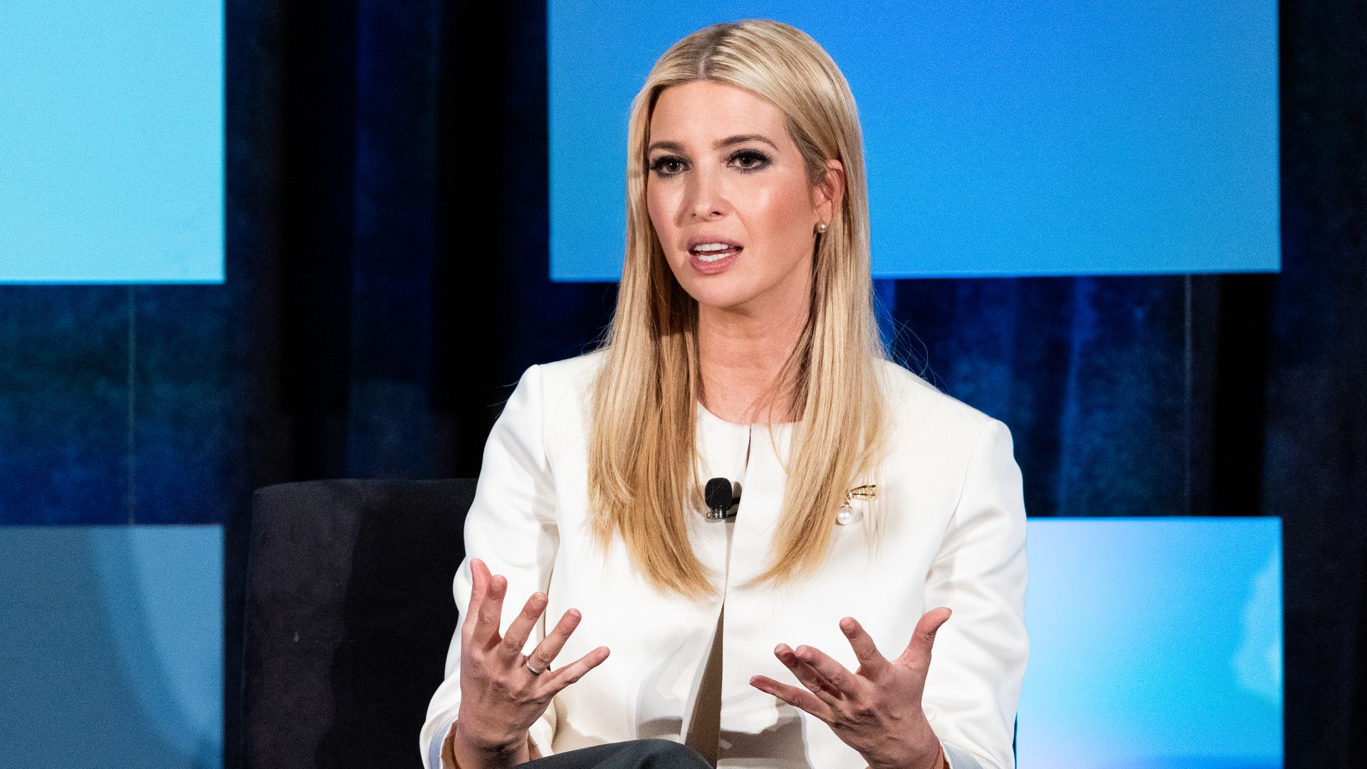 WASHINGTON, DC, UNITED STATES - 2018/11/13: Ivanka Trump, senior advisor to the US President seen during the Jack Kemp Foundation 2018, Kemp Leadership Award Dinner at the Audi Field.