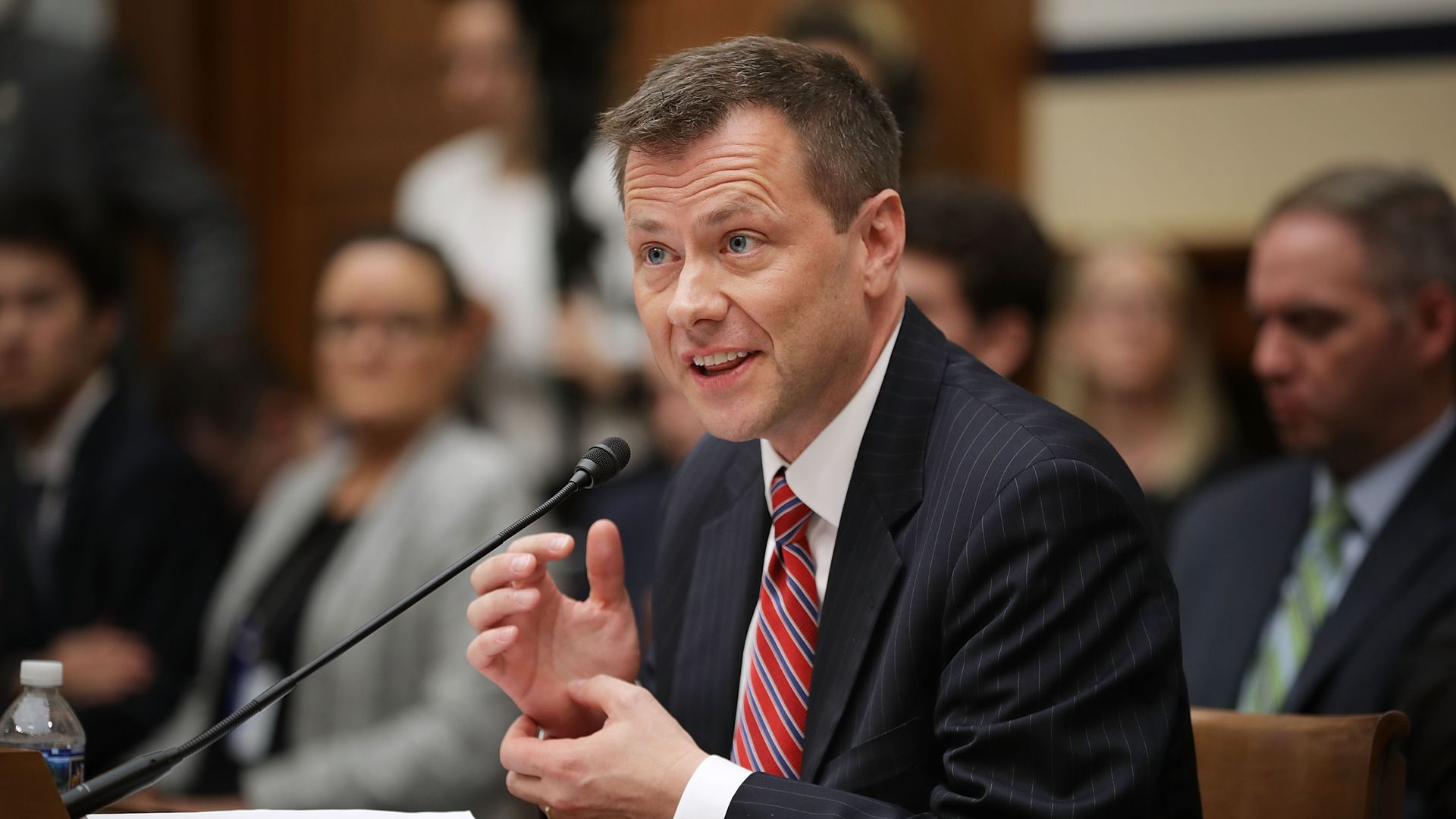 Former FBI agent Peter Strzok testifying on Capitol Hill