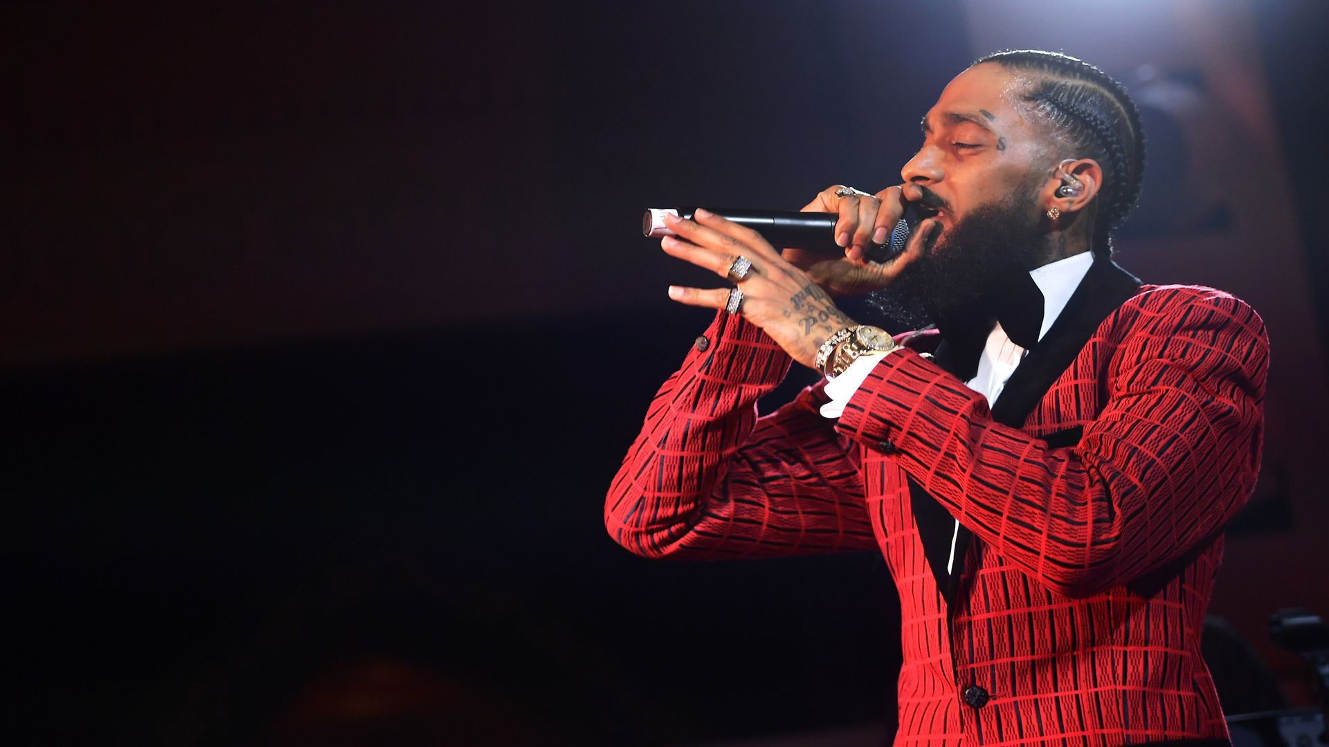 The late rapper Nipsey Hussle