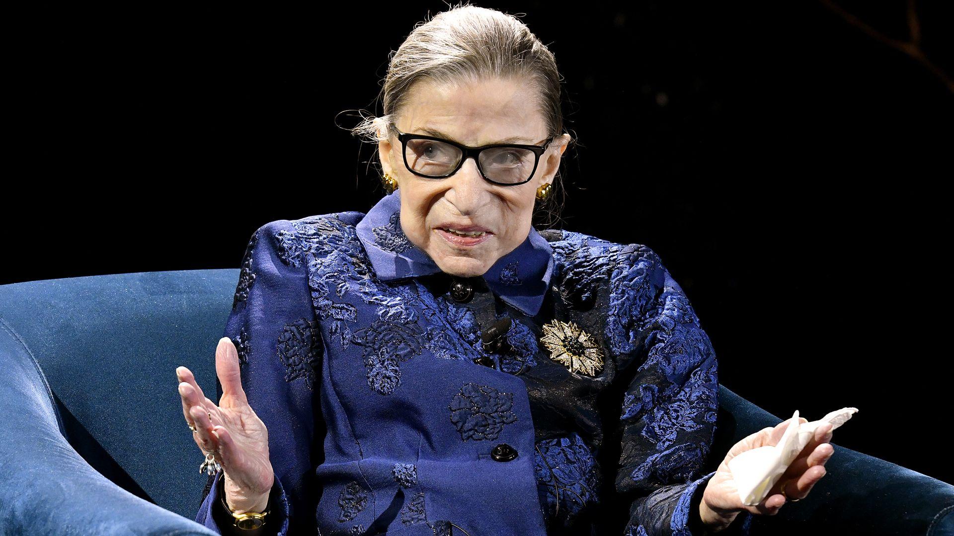 Ruth Bader Ginsberg.