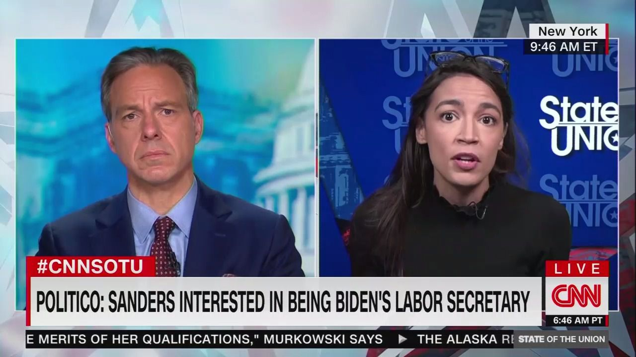 """AOC: """"Extremely important"""" that Biden offer Bernie Sanders a Cabinet position"""