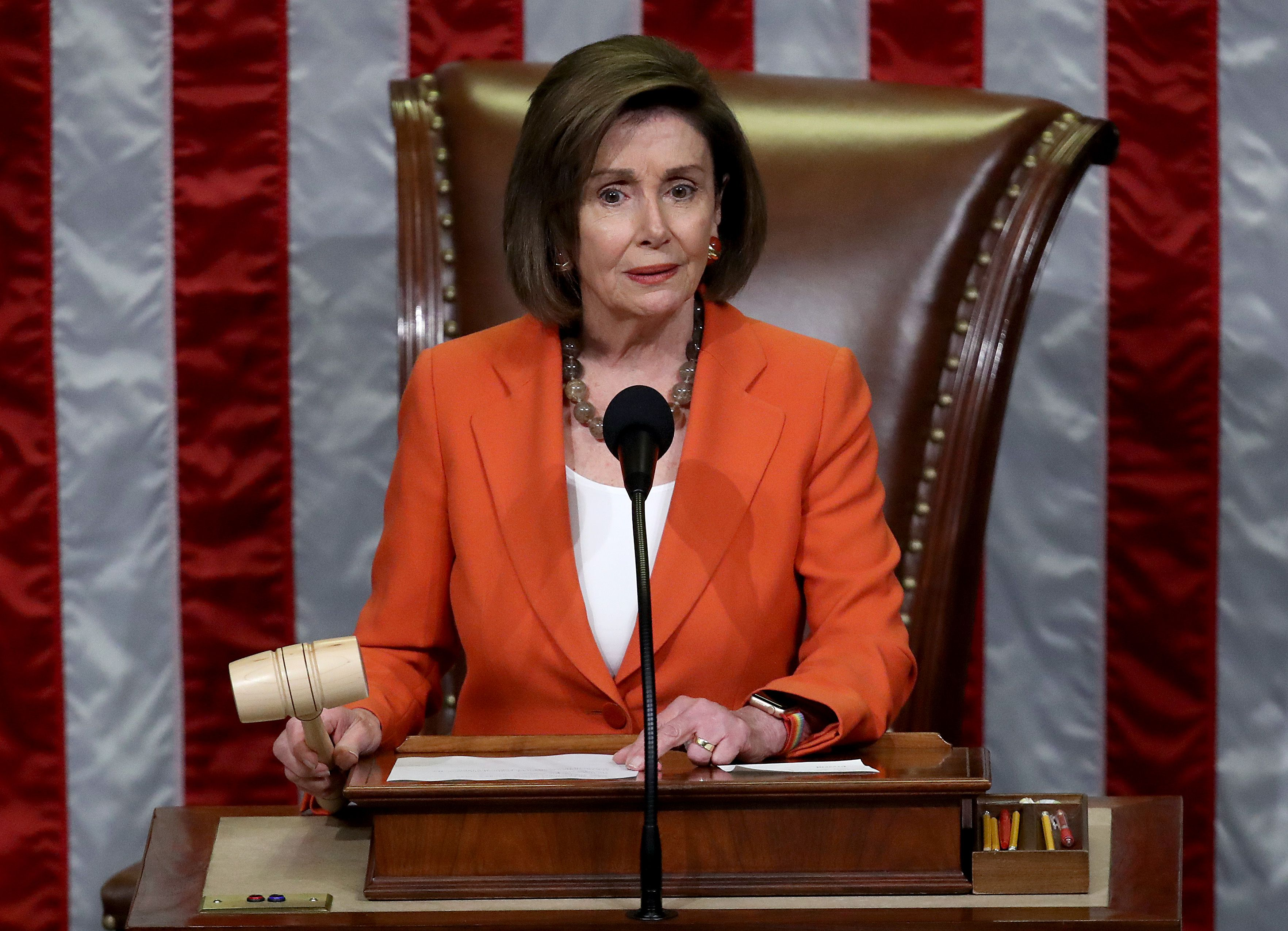 Pelosi lists House-passed bills stalled in Senate amid impeachment attacks - Axios