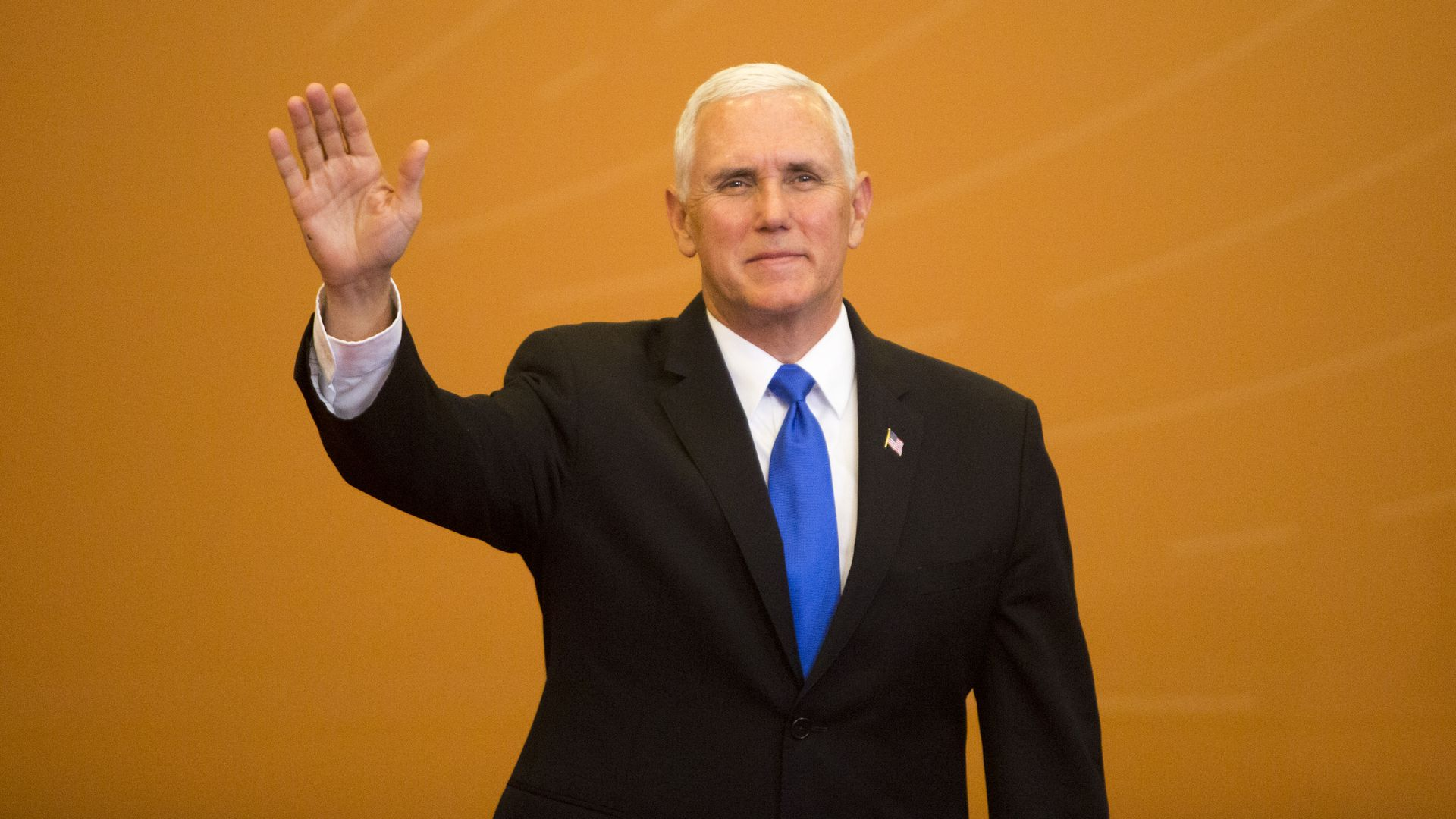 Mike Pence waving.