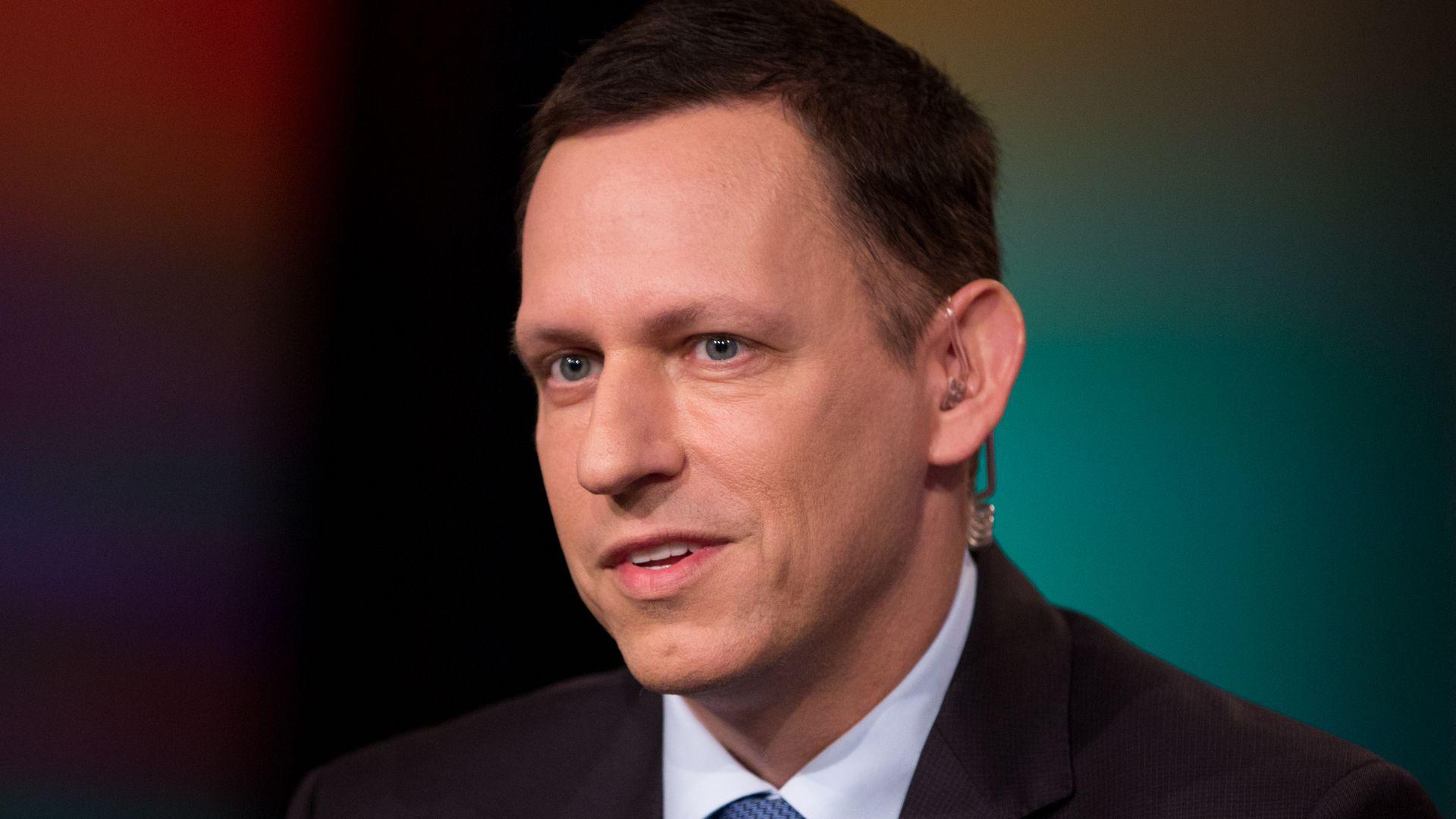 Peter Thiel at an interview