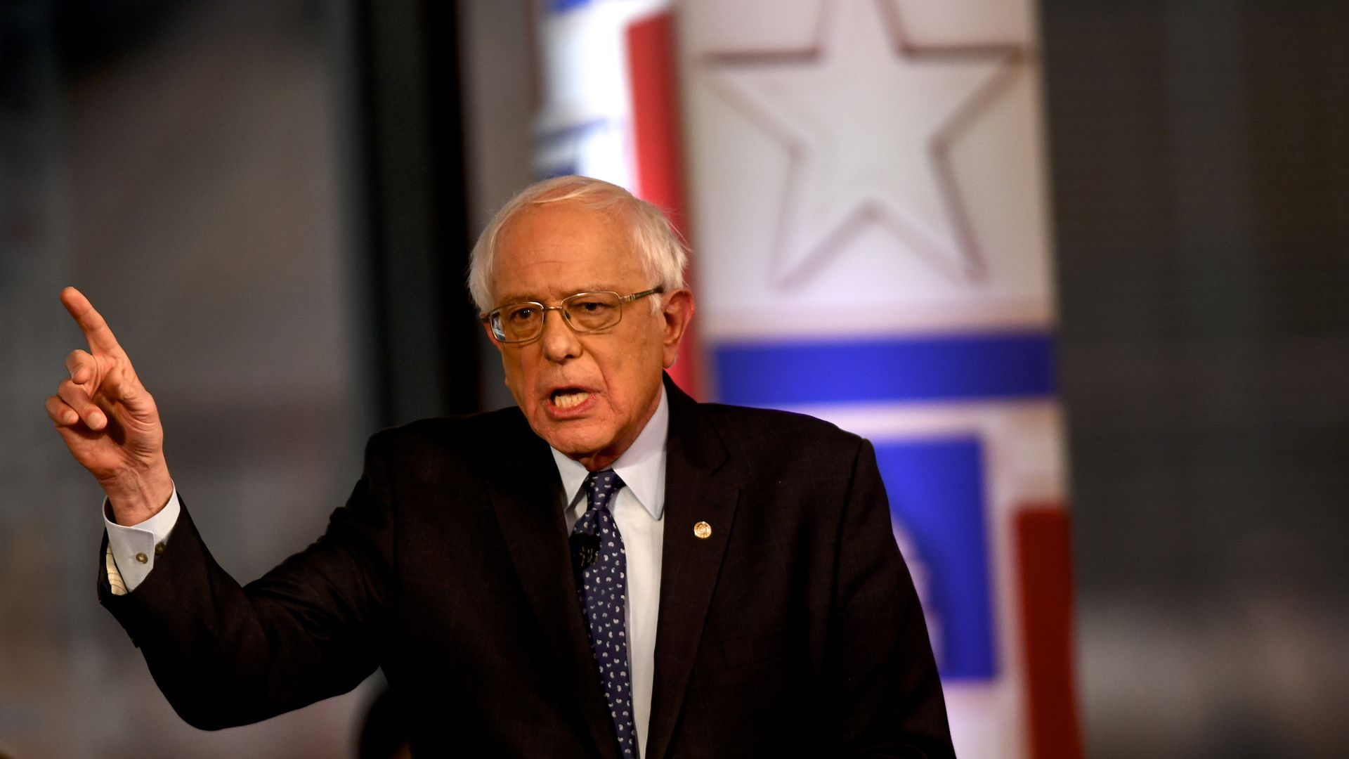 Sen. Bernie Sanders participates in a FOX News Town Hall at SteelStacks in Bethlehem, Pennsylvania, Monday.