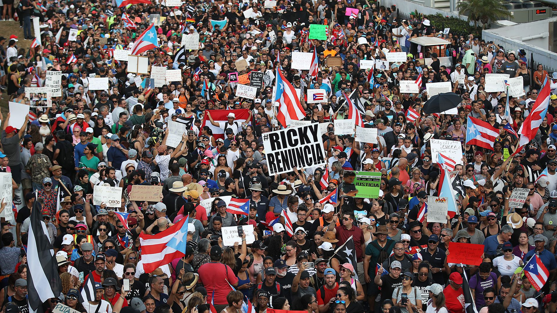 Protests in Puerto rico