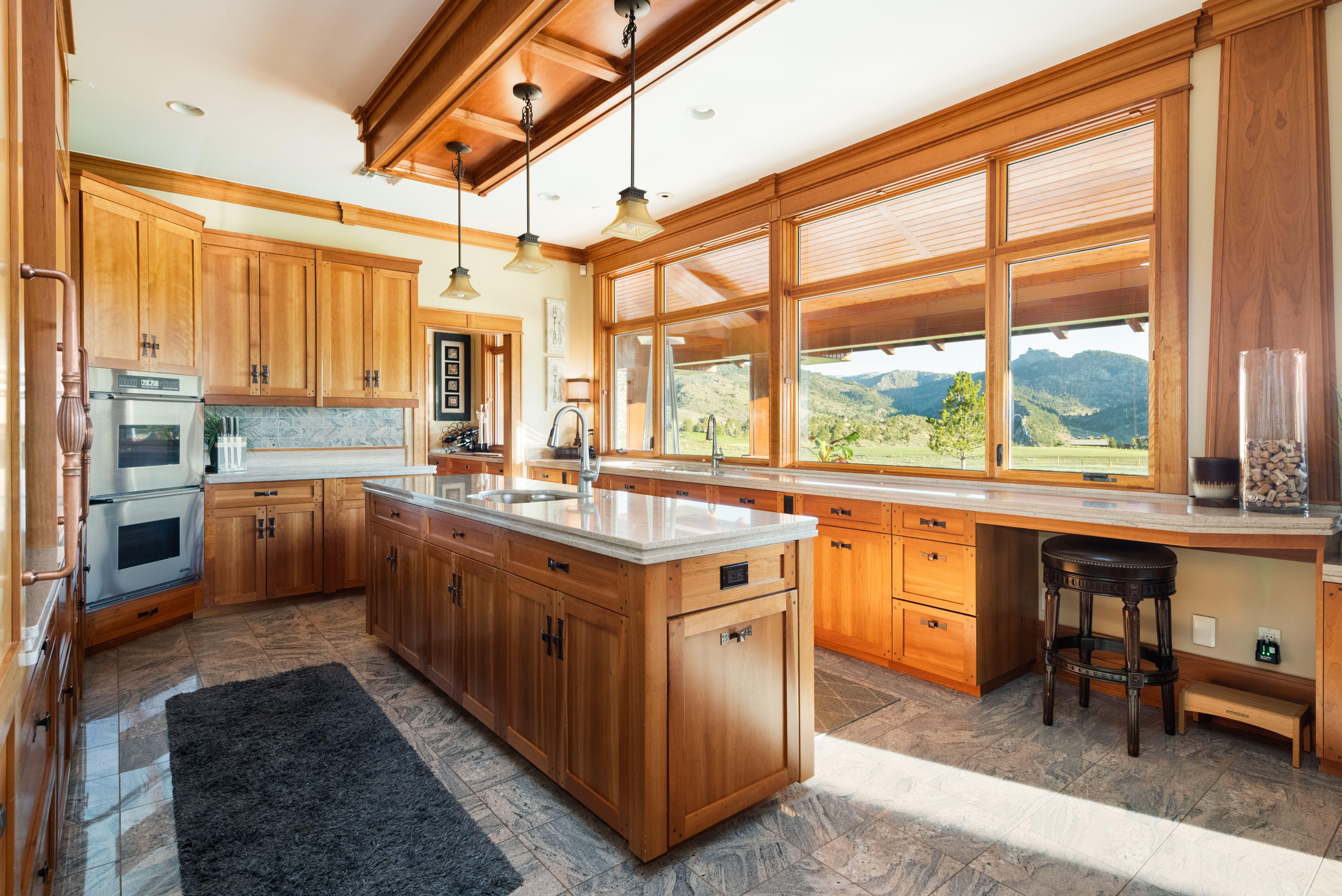 Colorado Mountain house on 35 acres asks $7M kitchen