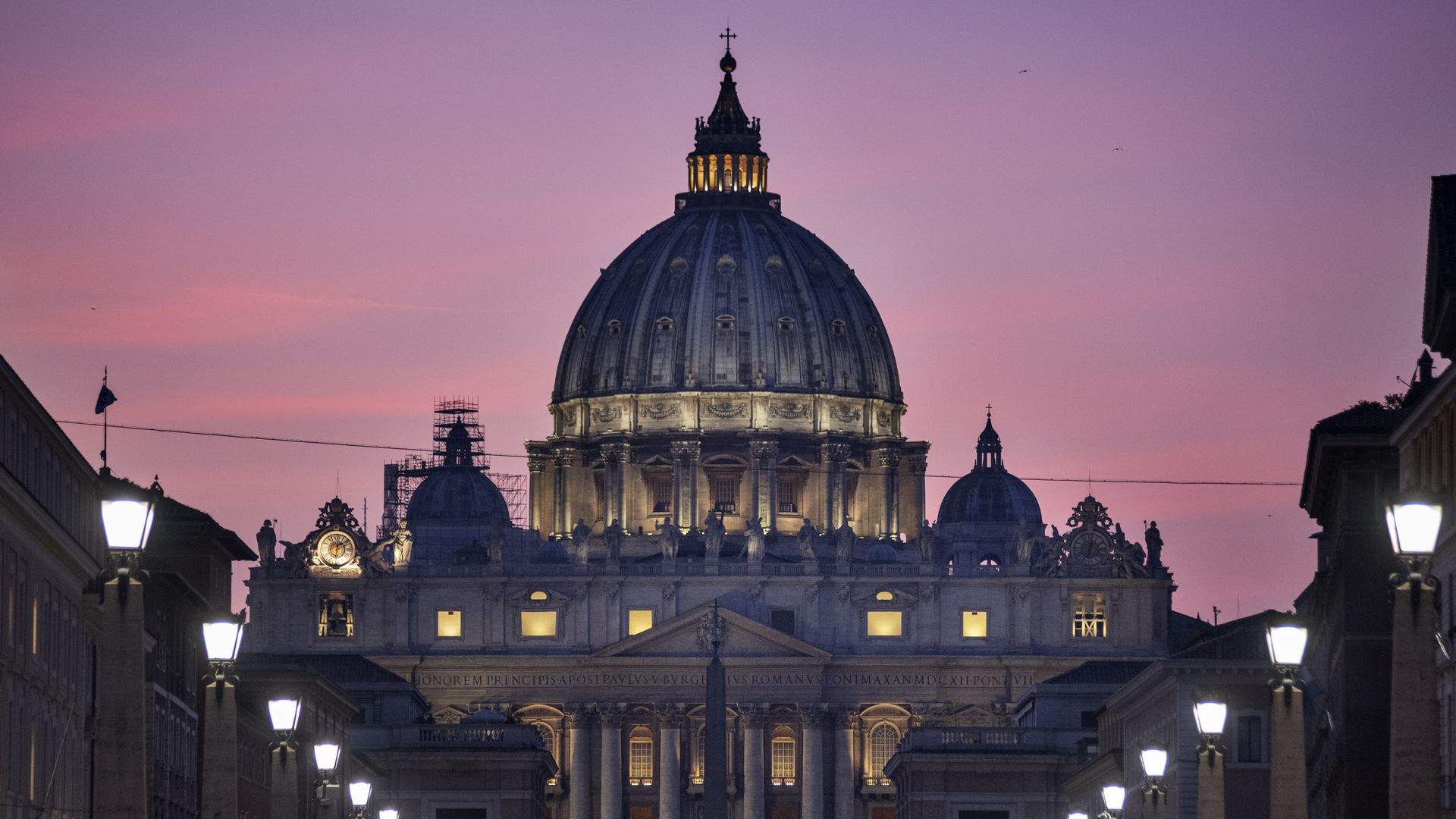 The Vatican's St. Peter's basilica during the Ending Clergy Abuse (ECA) summit