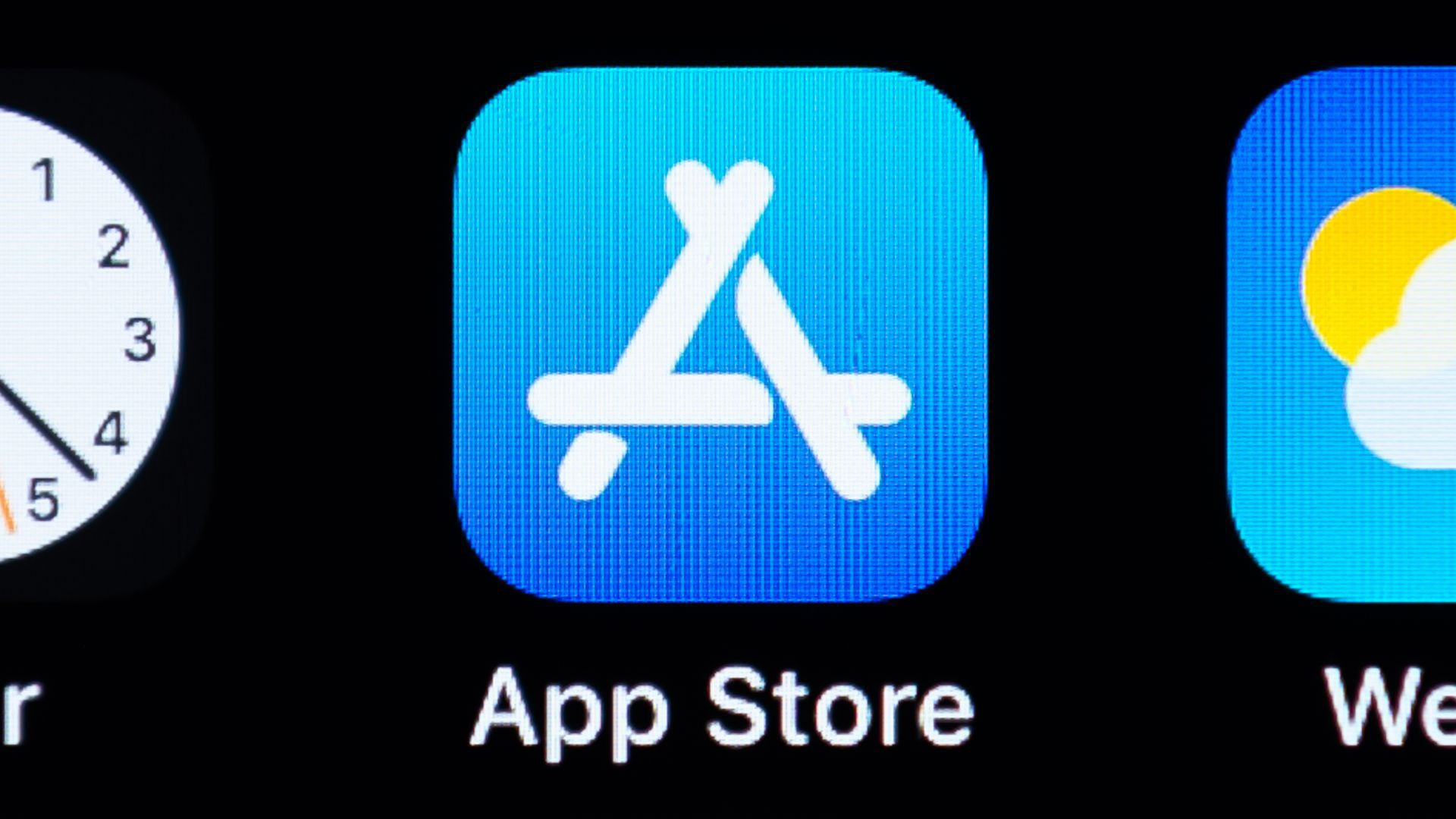 An image of the App Store icon on a smartphone