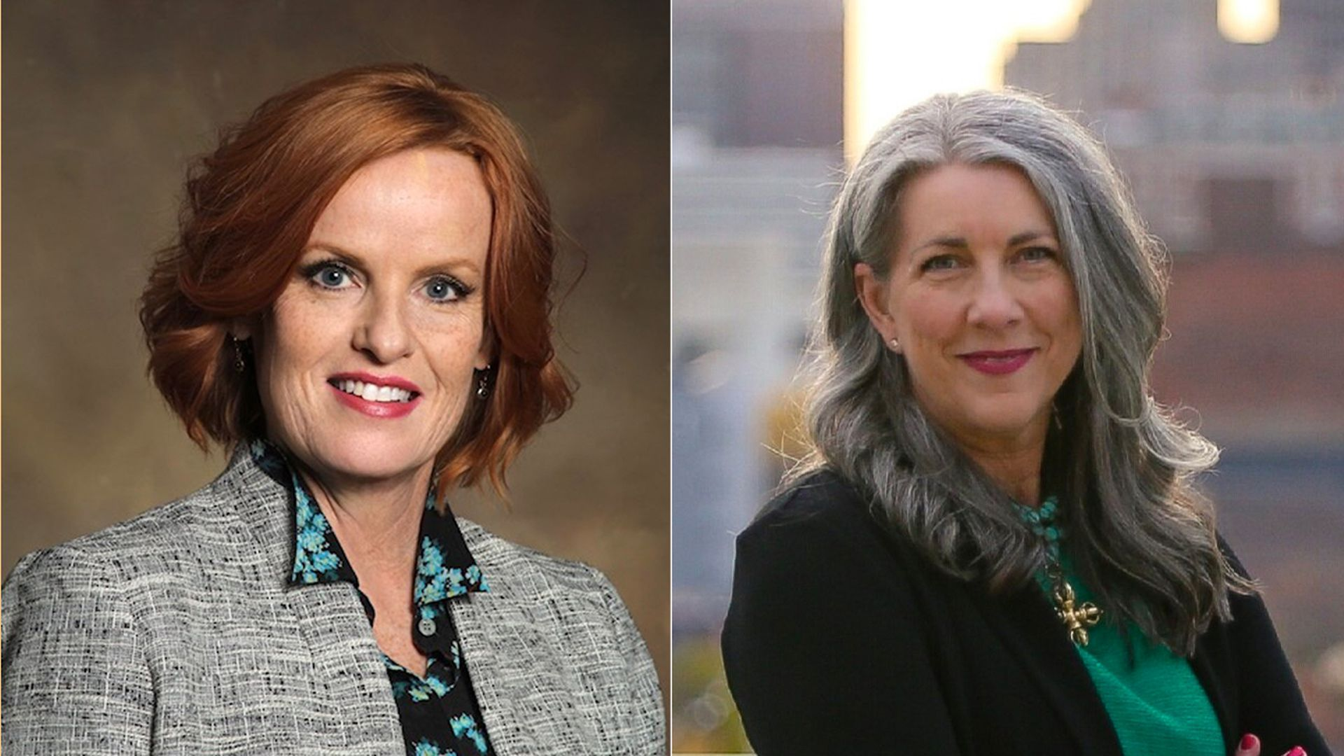 Laura Roan (left) and Kimberly Graham (right), both two candidates who recently announced they're running for Polk County attorney.