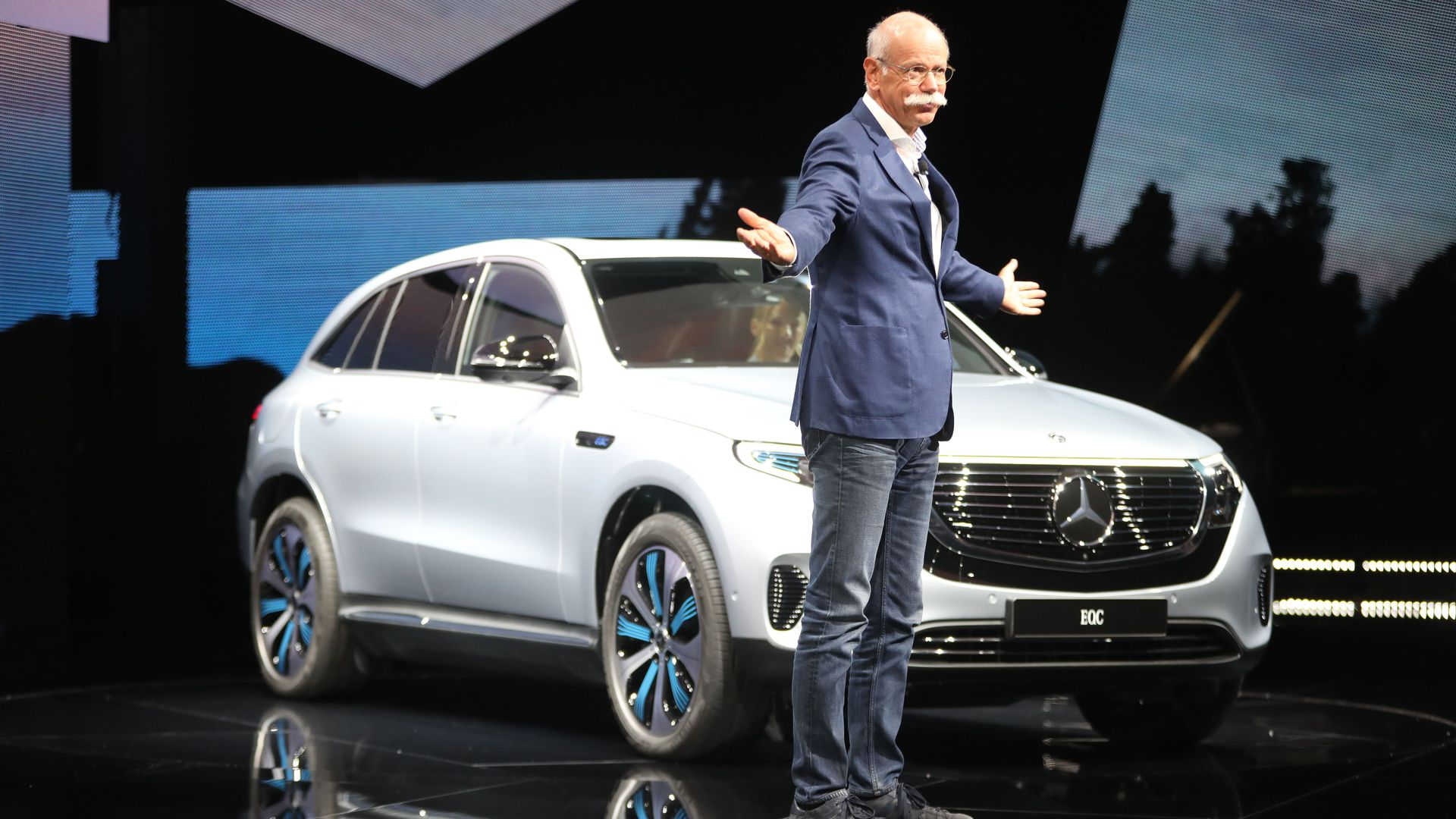 Mercedes Benz Unveils First Electric Car In New Series