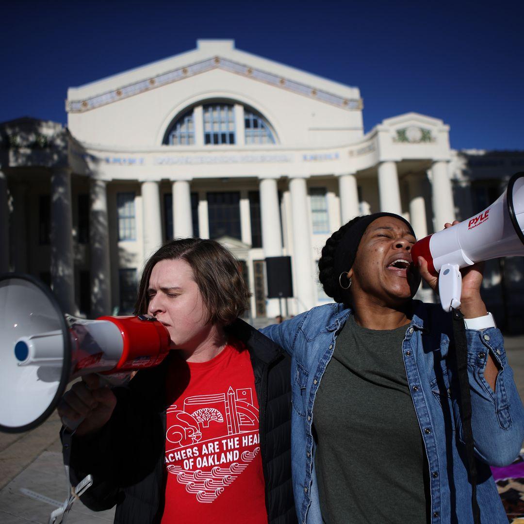 db1326ade65eda Oakland teachers reach tentative deal to end strike - Oakland public school  teachers have reached a tentative deal to end their 7-day strike