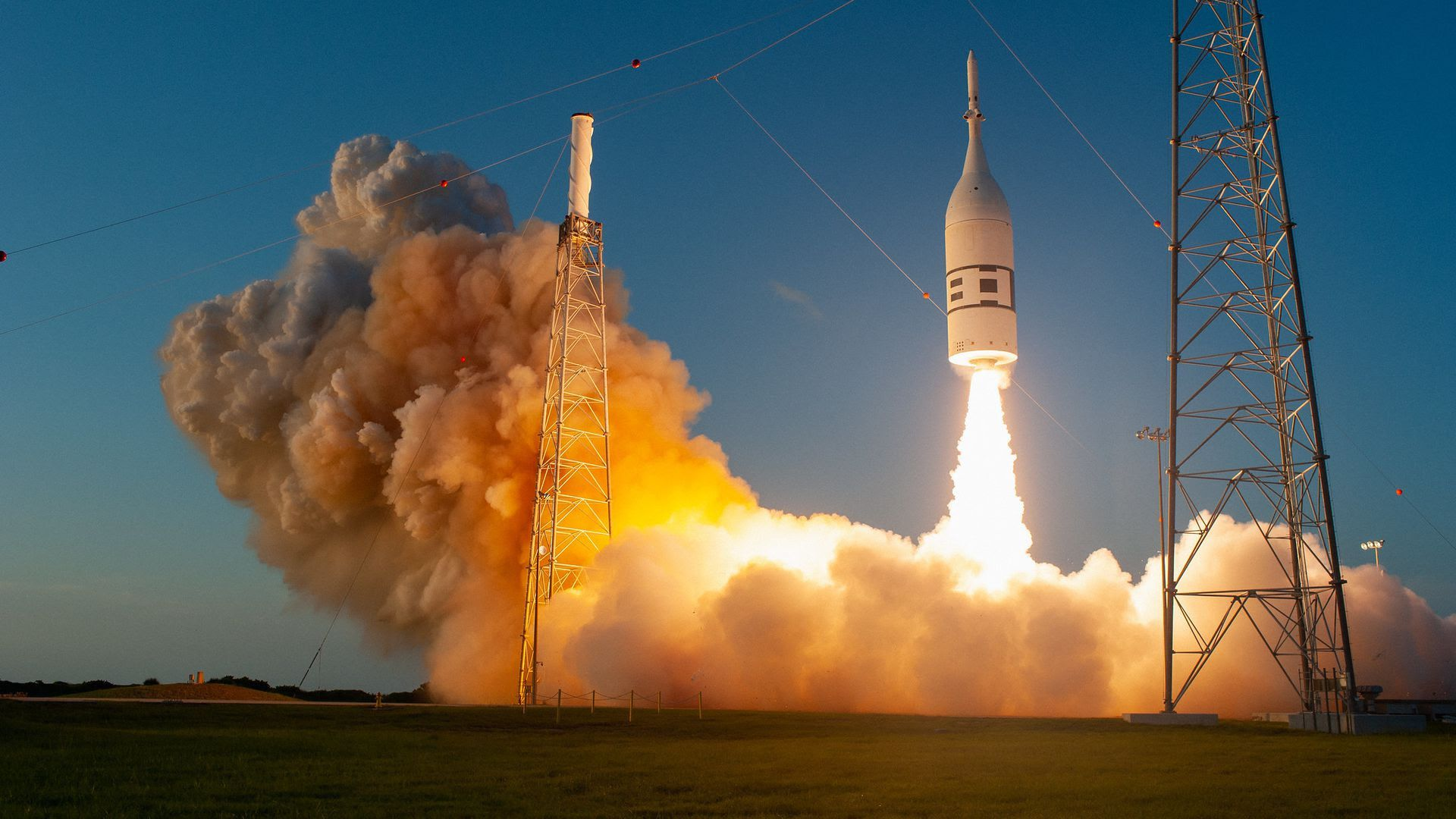 A test of the Orion abort system. Photo: NASA/Tony Gray and Kevin O'Connell