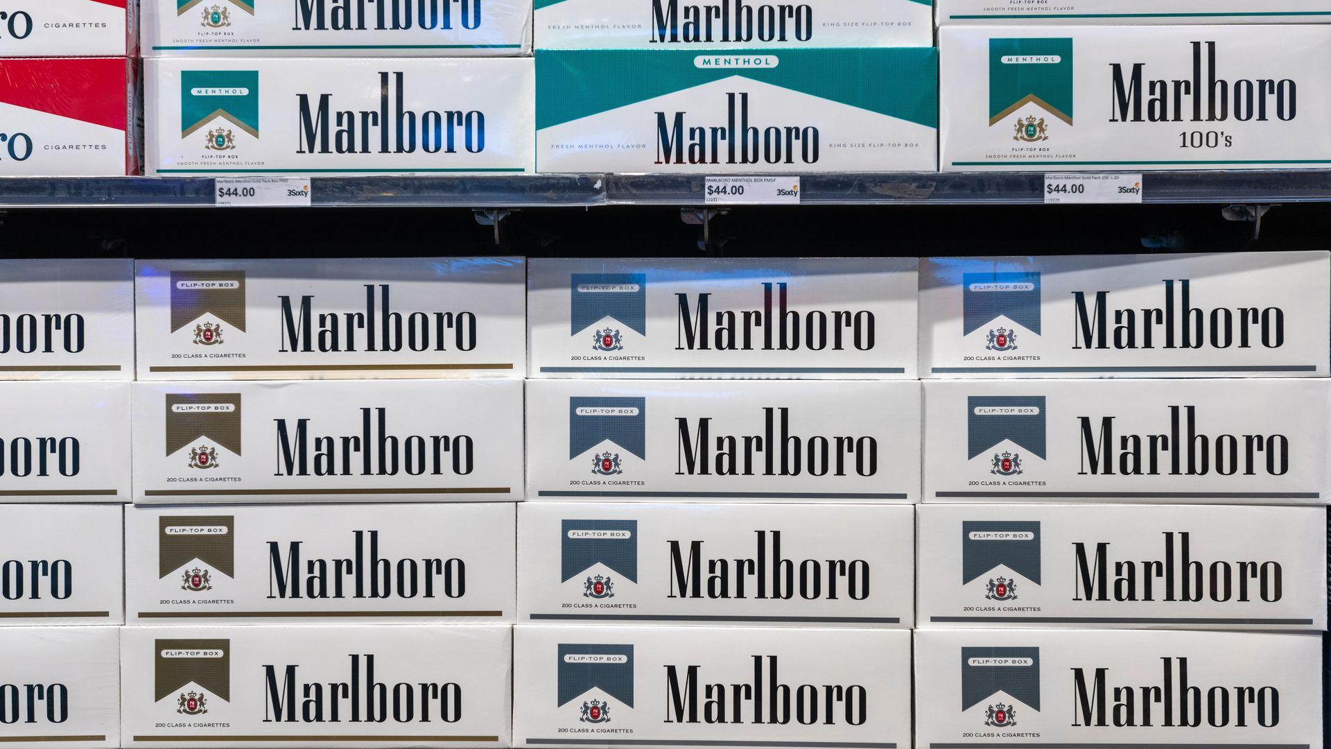 stacks of marlboro cartons